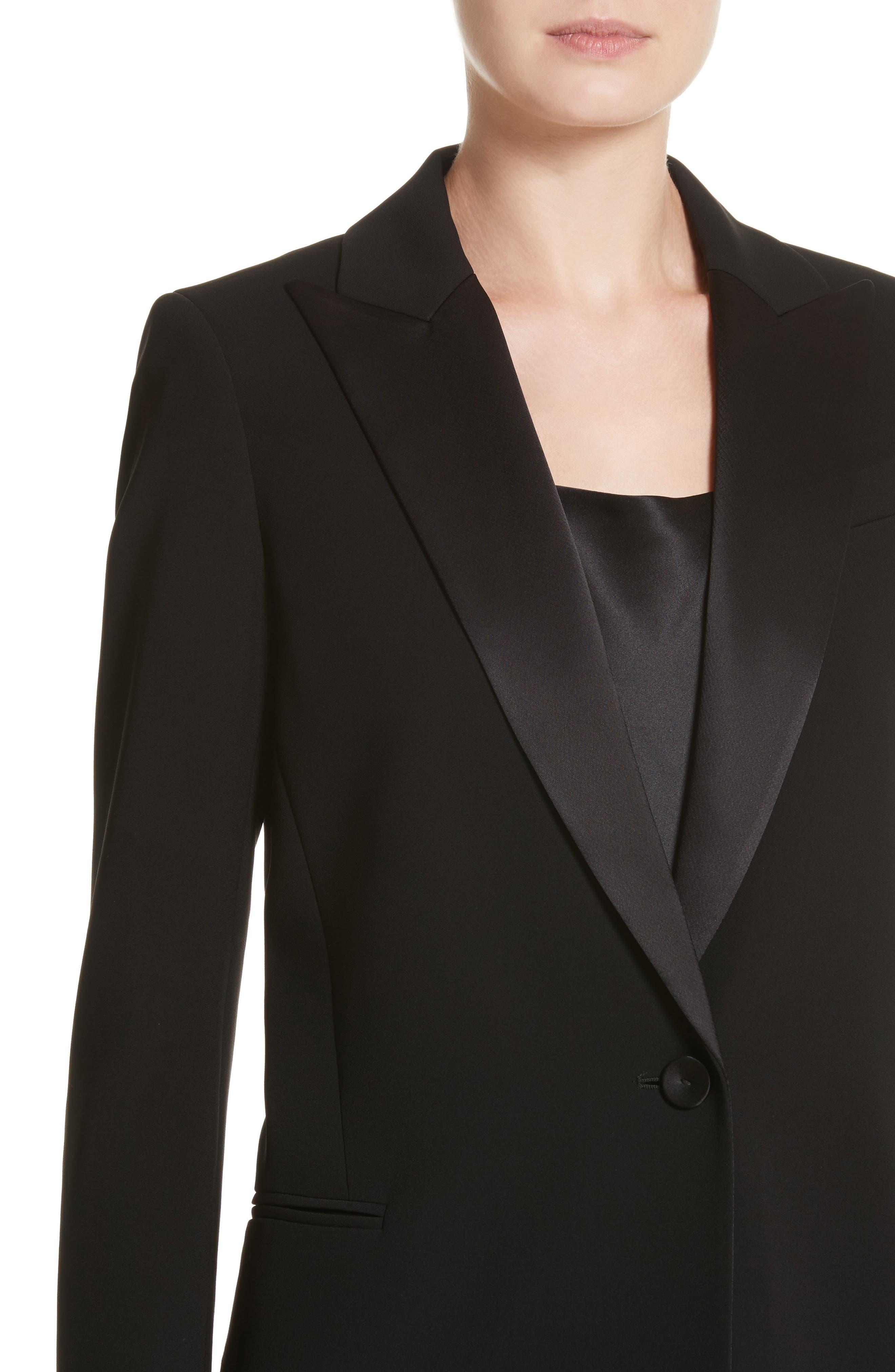 Alternate Image 4  - Lafayette 148 New York Satin Lapel Tuxedo Jacket