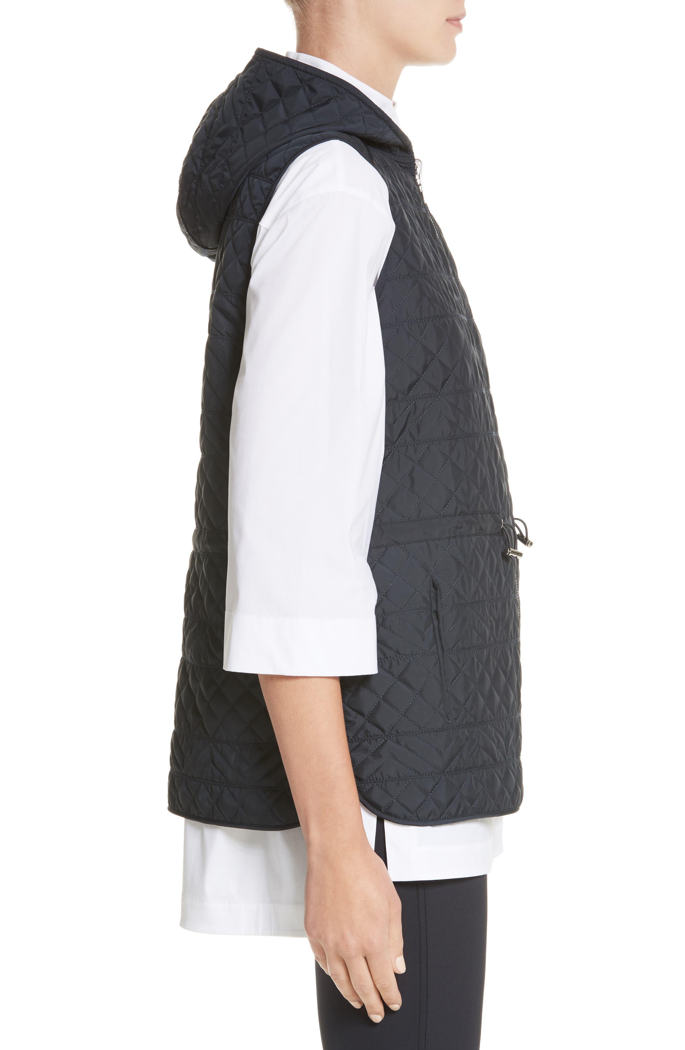 Ginny Reversible Hooded Vest,                             Alternate thumbnail 4, color,                             Ink/ Nickel Melange
