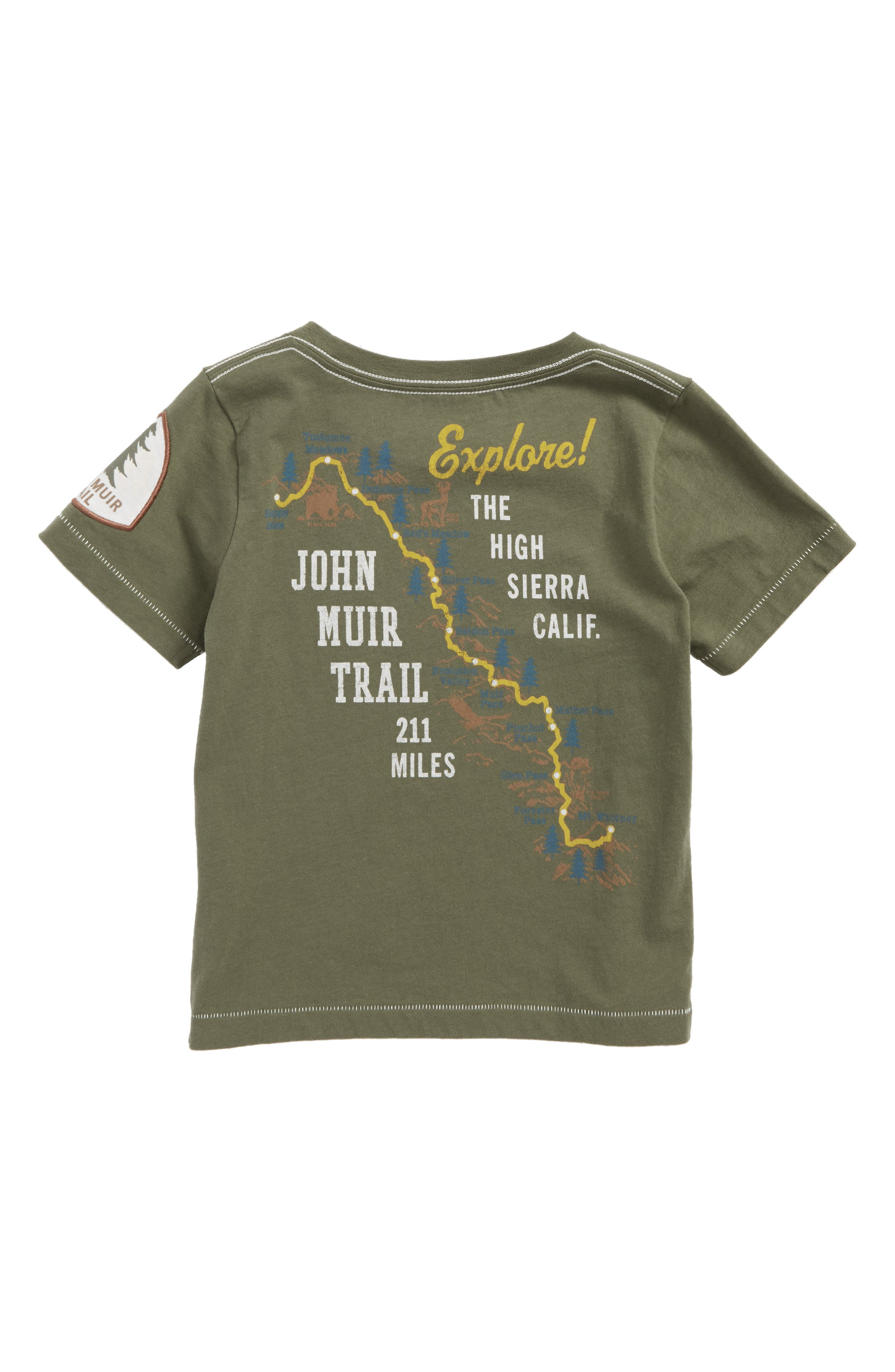 Mountain Trails Graphic T-Shirt,                             Alternate thumbnail 2, color,                             Olive