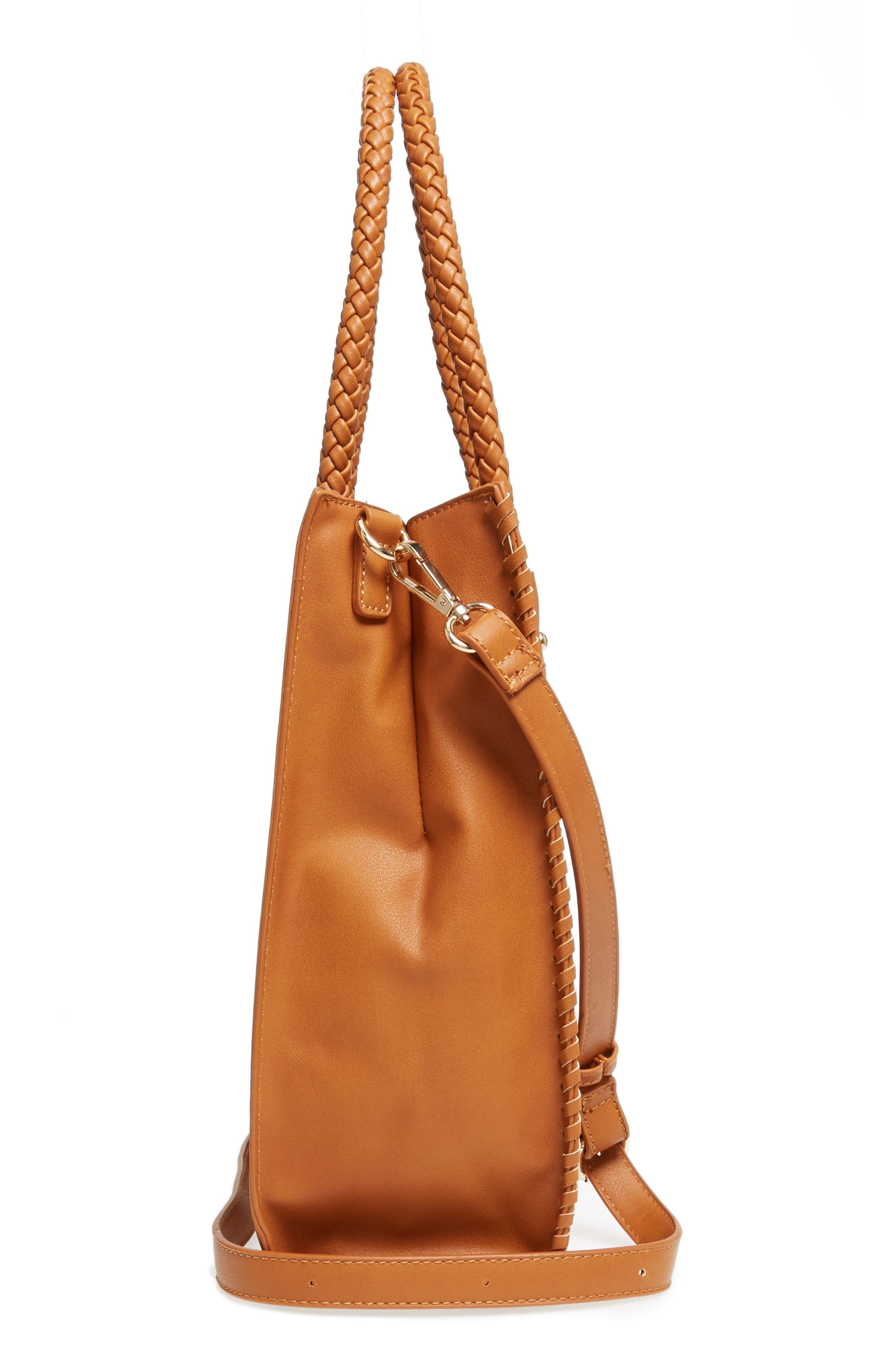 Alternate Image 4  - Emperia Whipstitch Faux Leather Tote