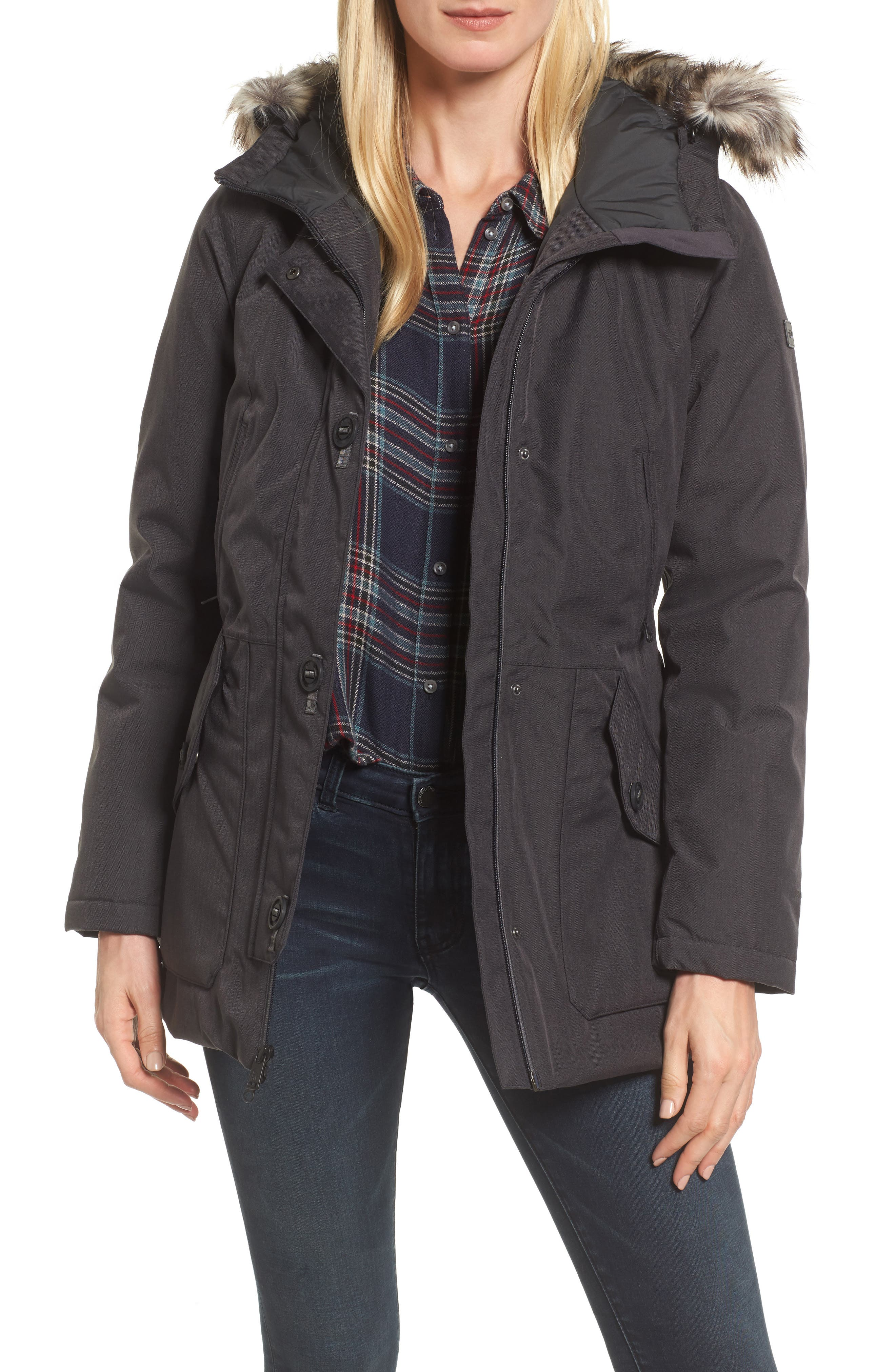 The North Face Mauna Kea Waterproof Insulated Parka with Faux Fur Trim