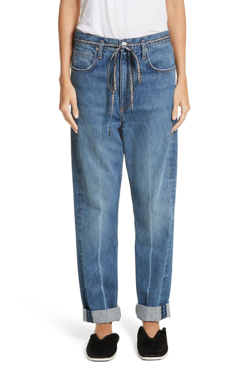 PSWL Cuffed Straight Leg Jeans