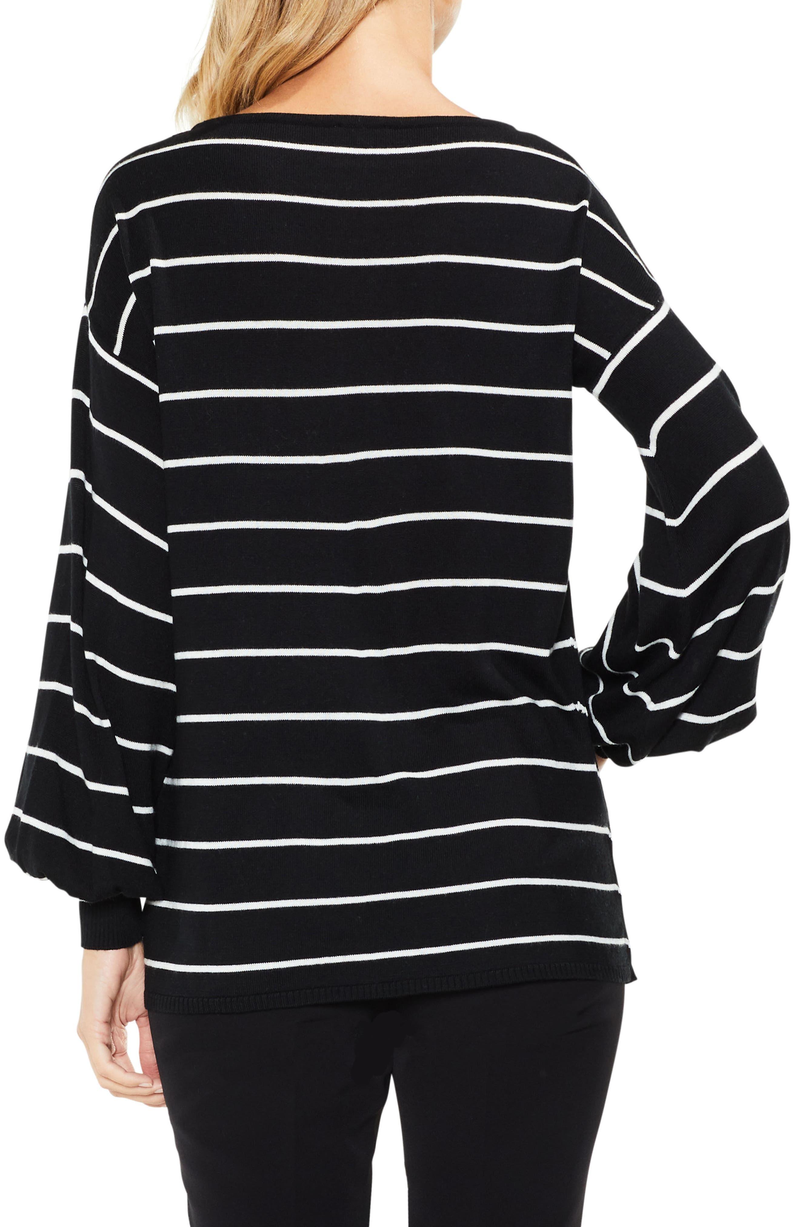 Chevron Intarsia Sweater,                             Alternate thumbnail 2, color,                             Rich Black