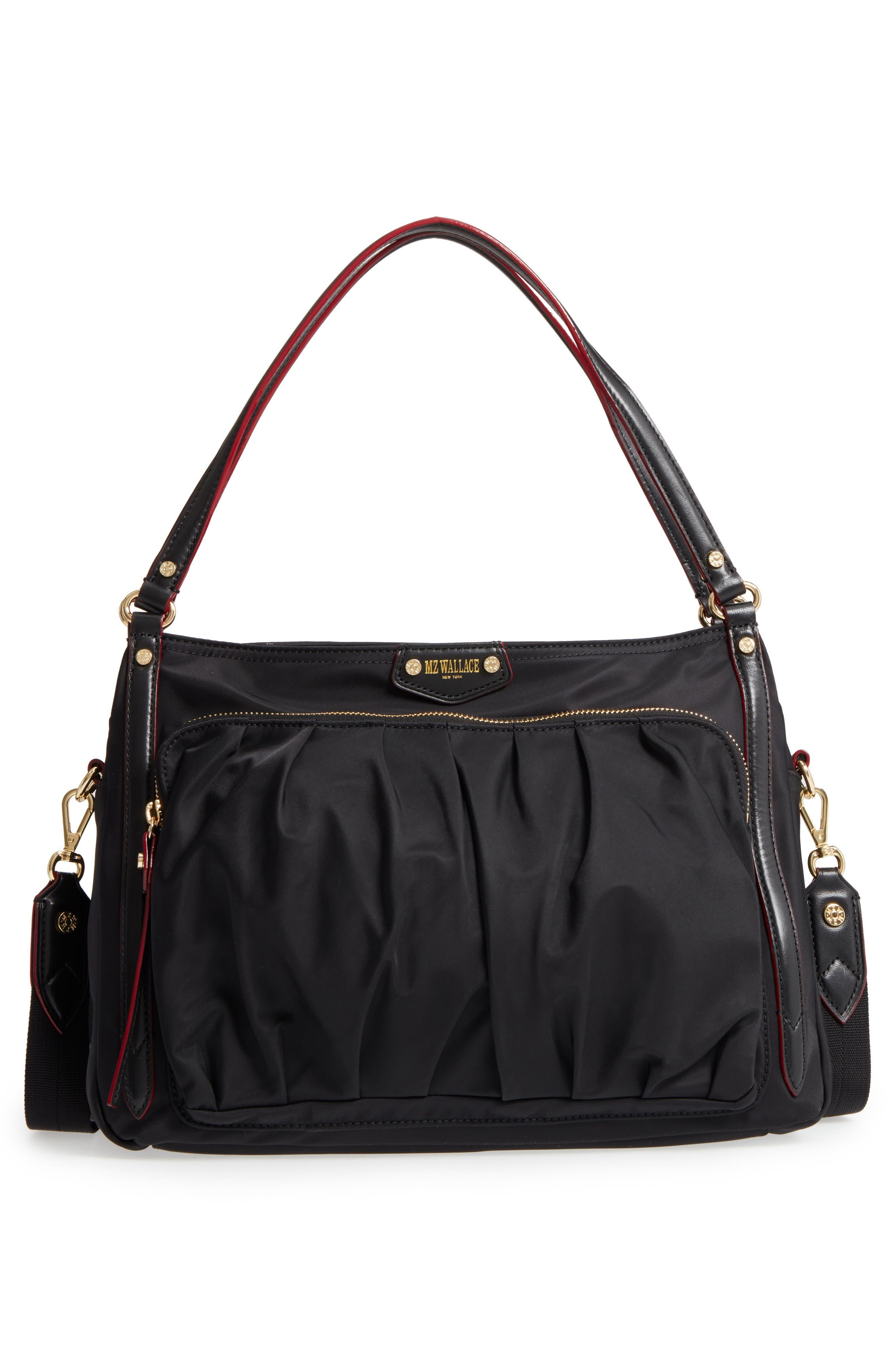 Toni Bedford Nylon Shoulder Bag,                             Alternate thumbnail 3, color,                             Black