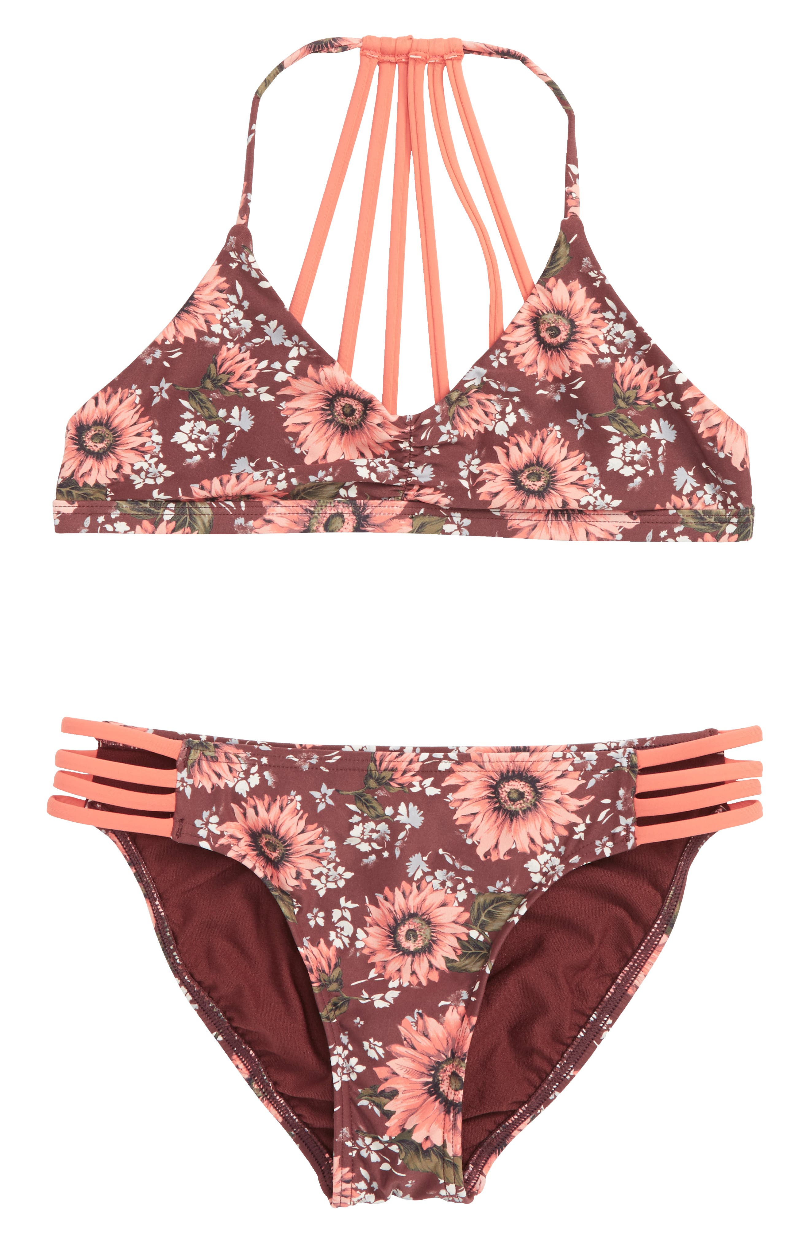 Alternate Image 1 Selected - O'Neill Viera Two-Piece Swimsuit (Big Girls)