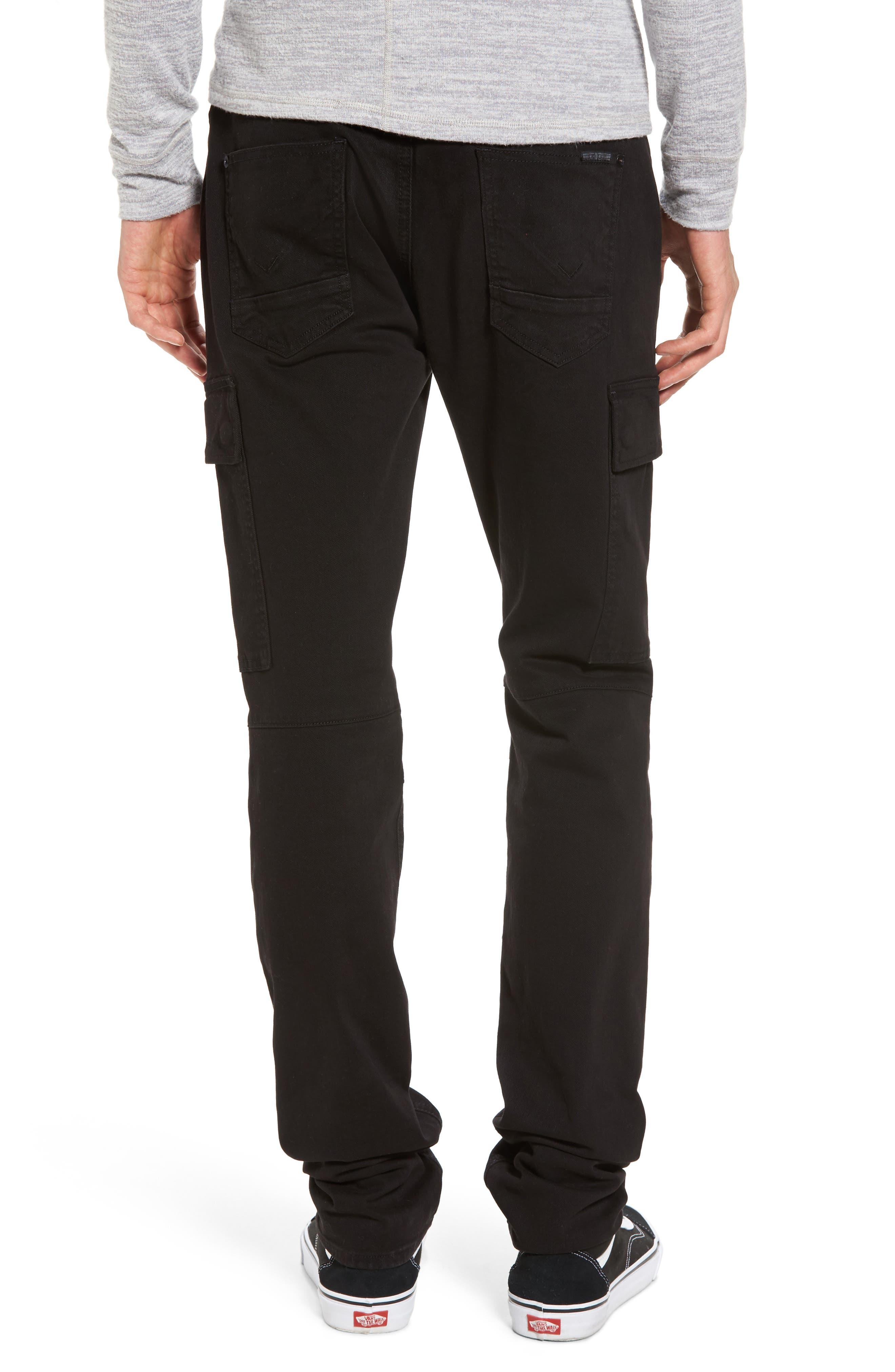 Alternate Image 2  - Hudson Jeans Greyson Cargo Biker Skinny Fit Jeans (Black)