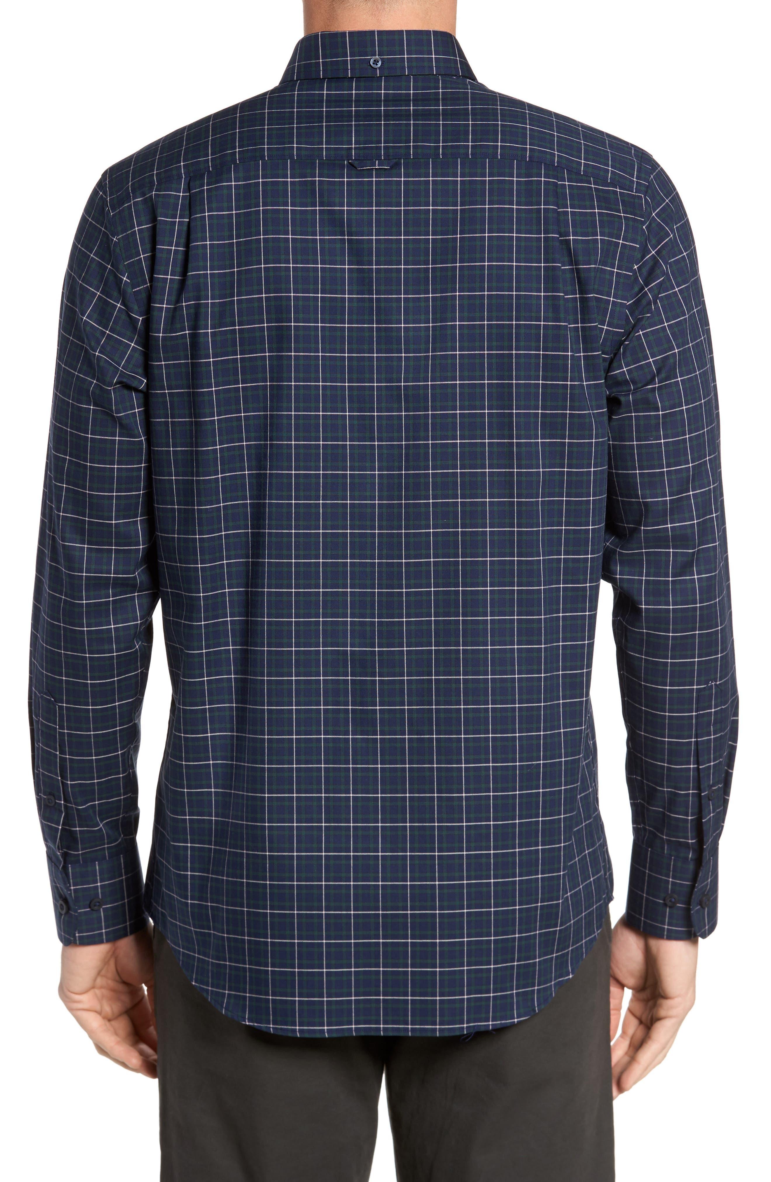 Alternate Image 2  - Nordstrom Men's Shop Regular Fit Non-Iron Plaid Sport Shirt
