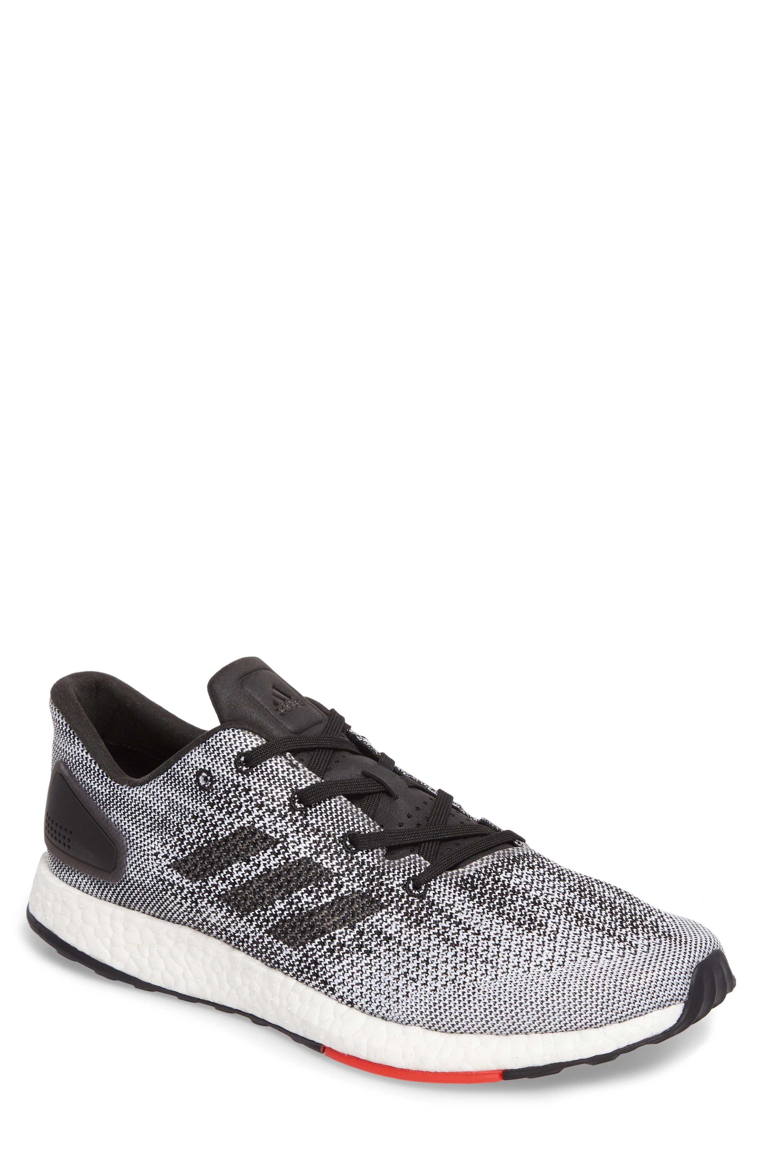 PureBoost DPR Running Shoe,                             Main thumbnail 1, color,                             Core Black/White