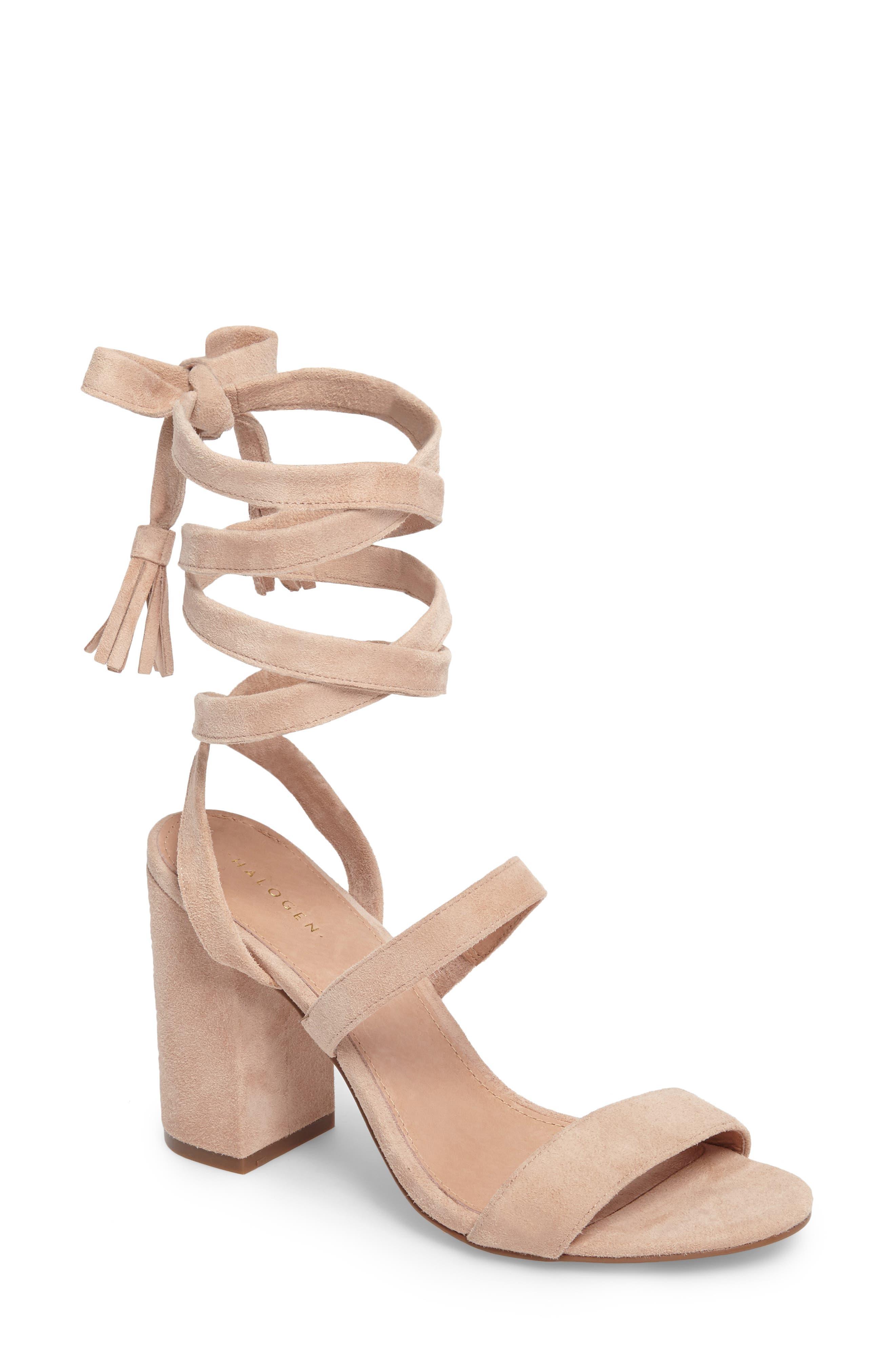 Halogen® Finley Lace-Up Sandal (Women)