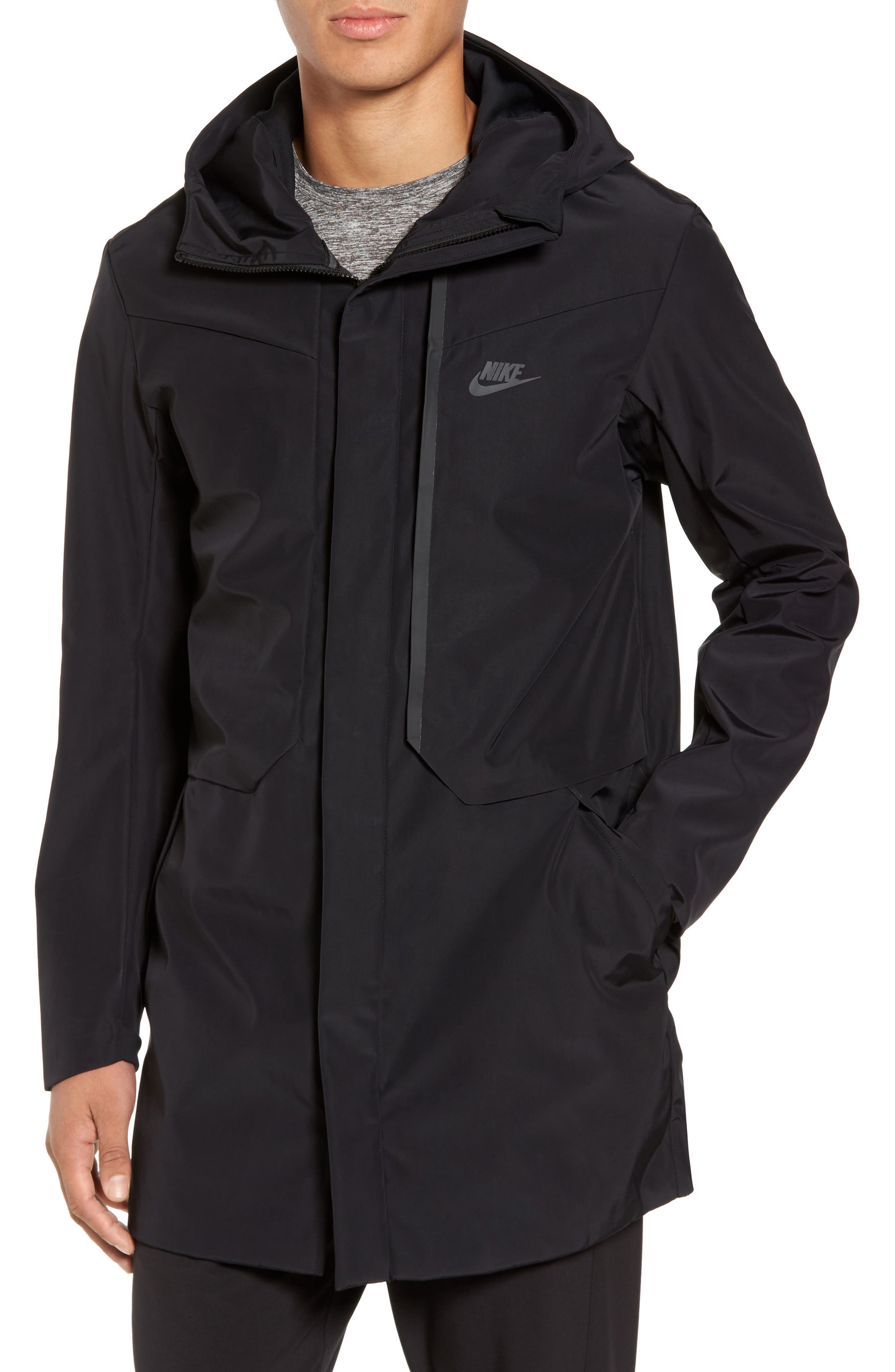 NSW Tech Track Jacket,                         Main,                         color, Black/ Black