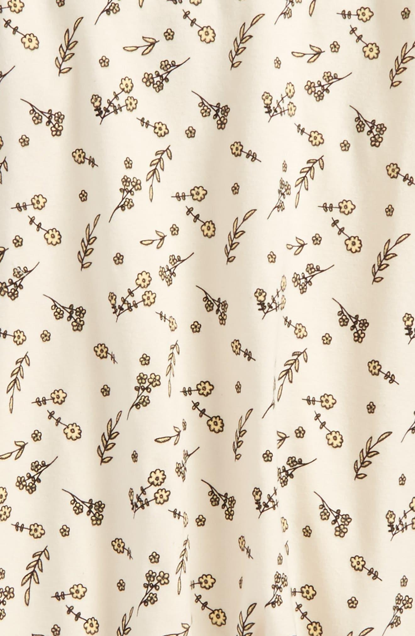 Florette Jersey Overalls,                             Alternate thumbnail 3, color,                             Ivory Floral