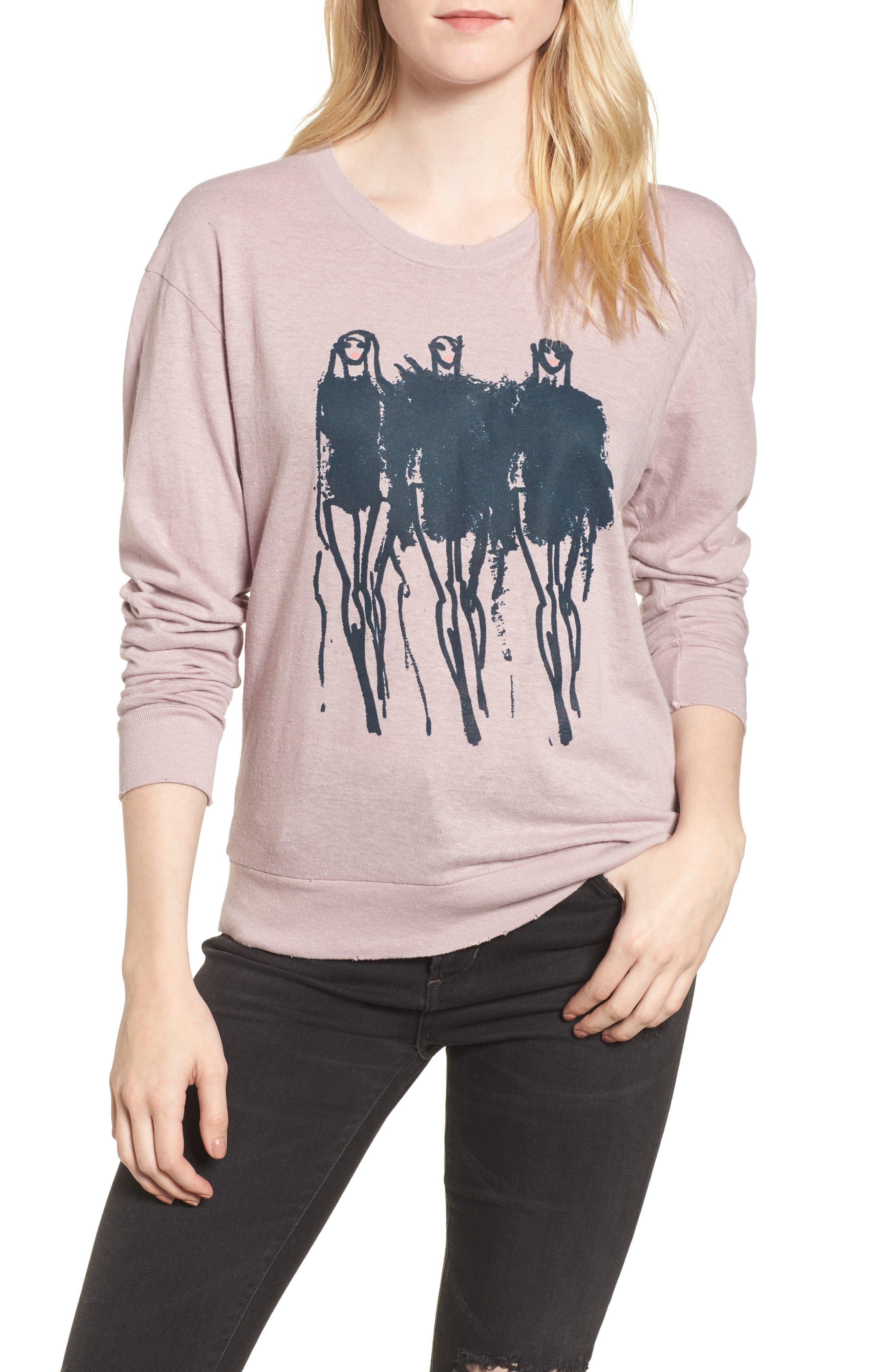x Donald Robertson Black Dresses Sweatshirt,                         Main,                         color, Silk