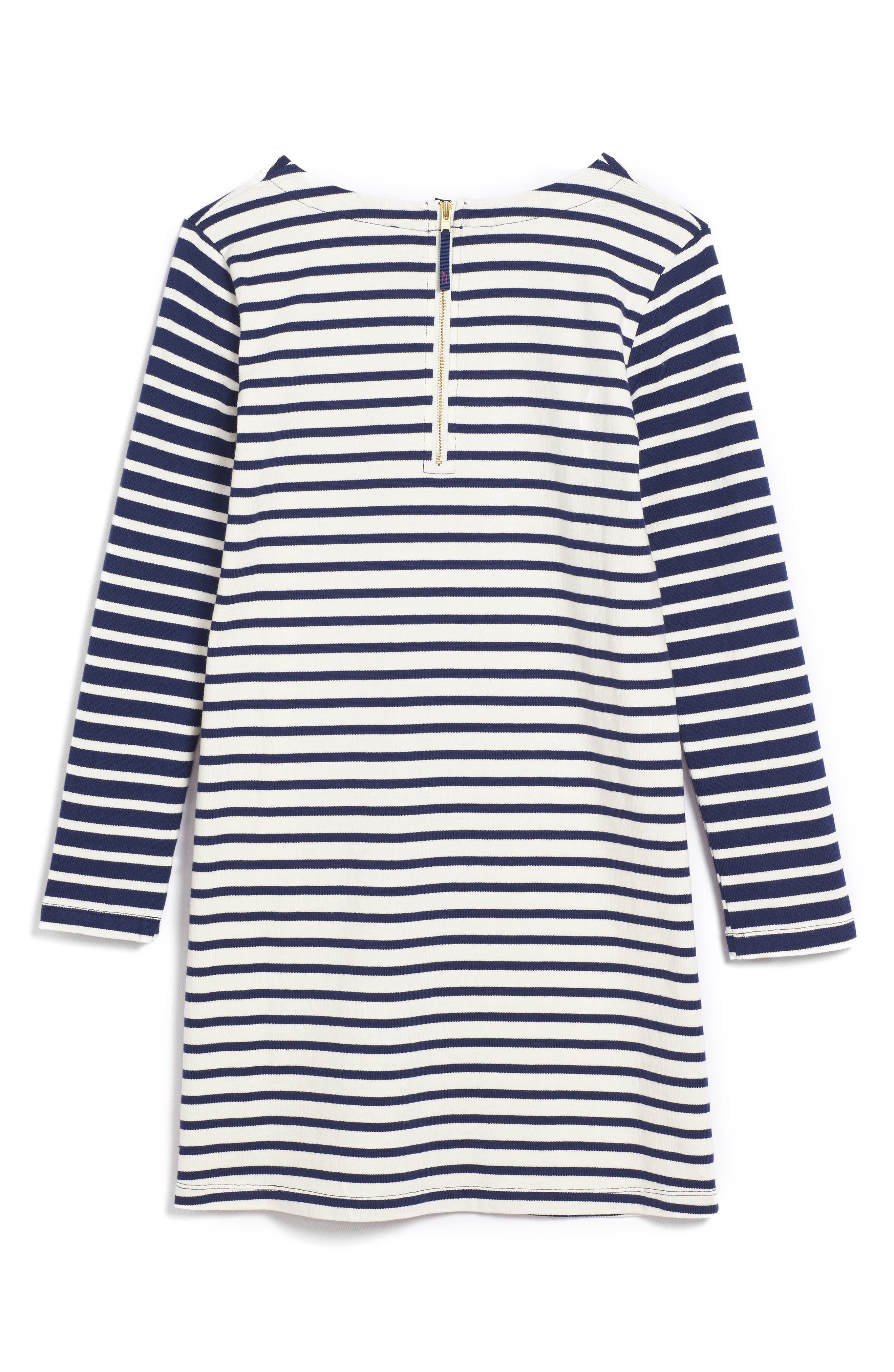 Alternate Image 2  - vineyard vines Stripe Knit Dress (Little Girls & Big Girls)
