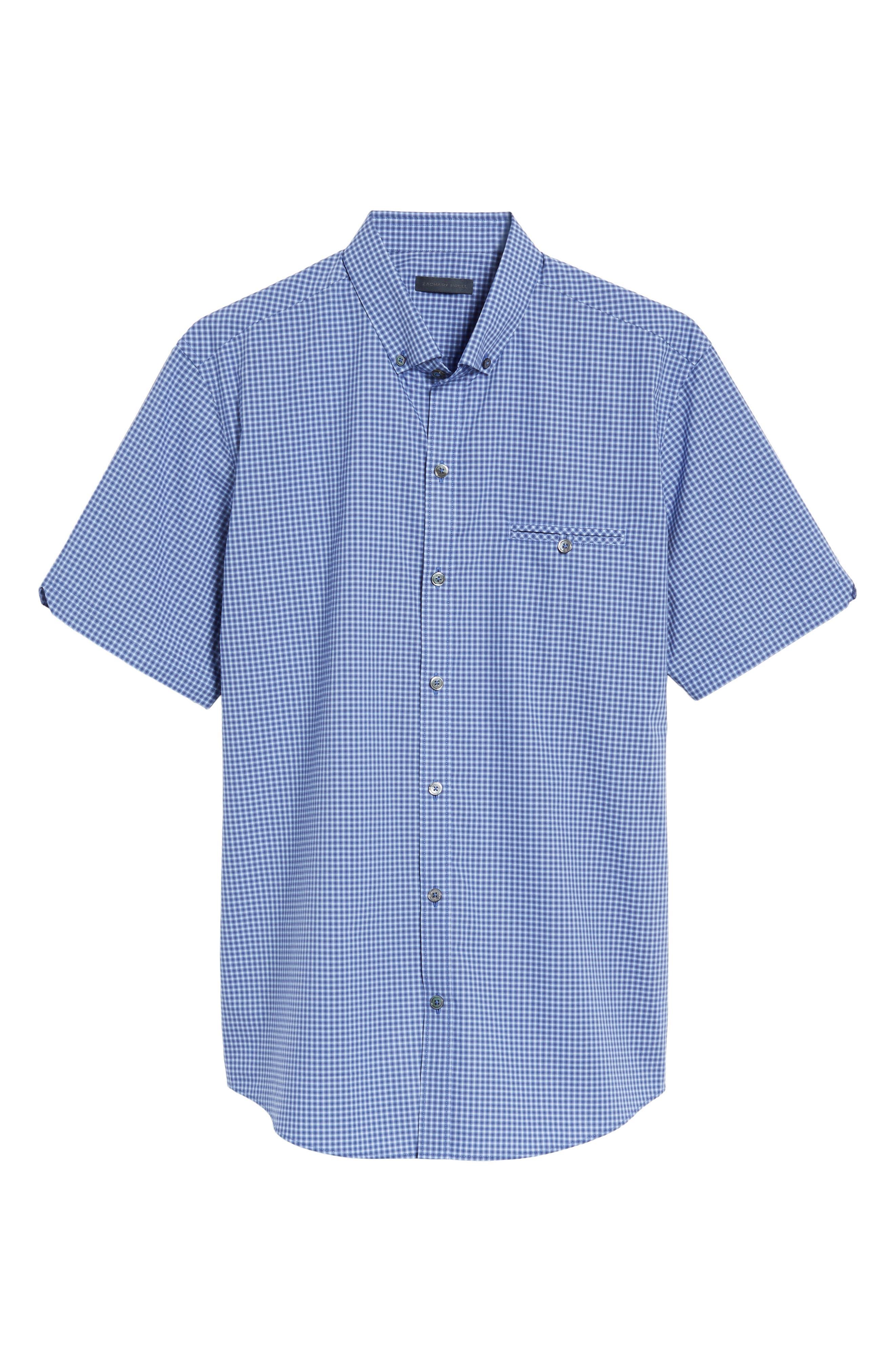 Alternate Image 6  - Zachary Prell Ahmed Slim Fit Plaid Sport Shirt