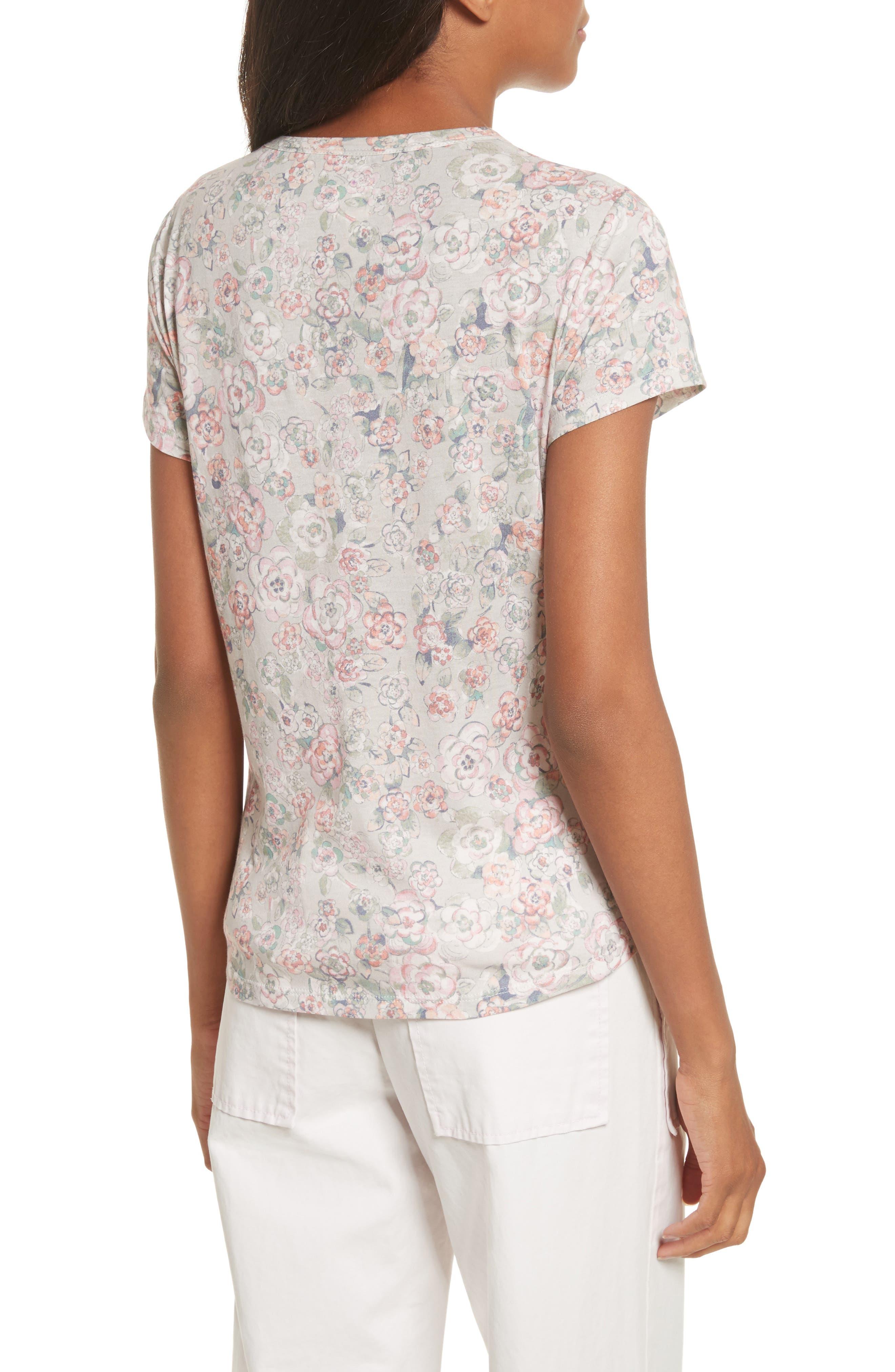 Alternate Image 2  - La Vie Rebecca Taylor Fabienne Floral Jersey Top