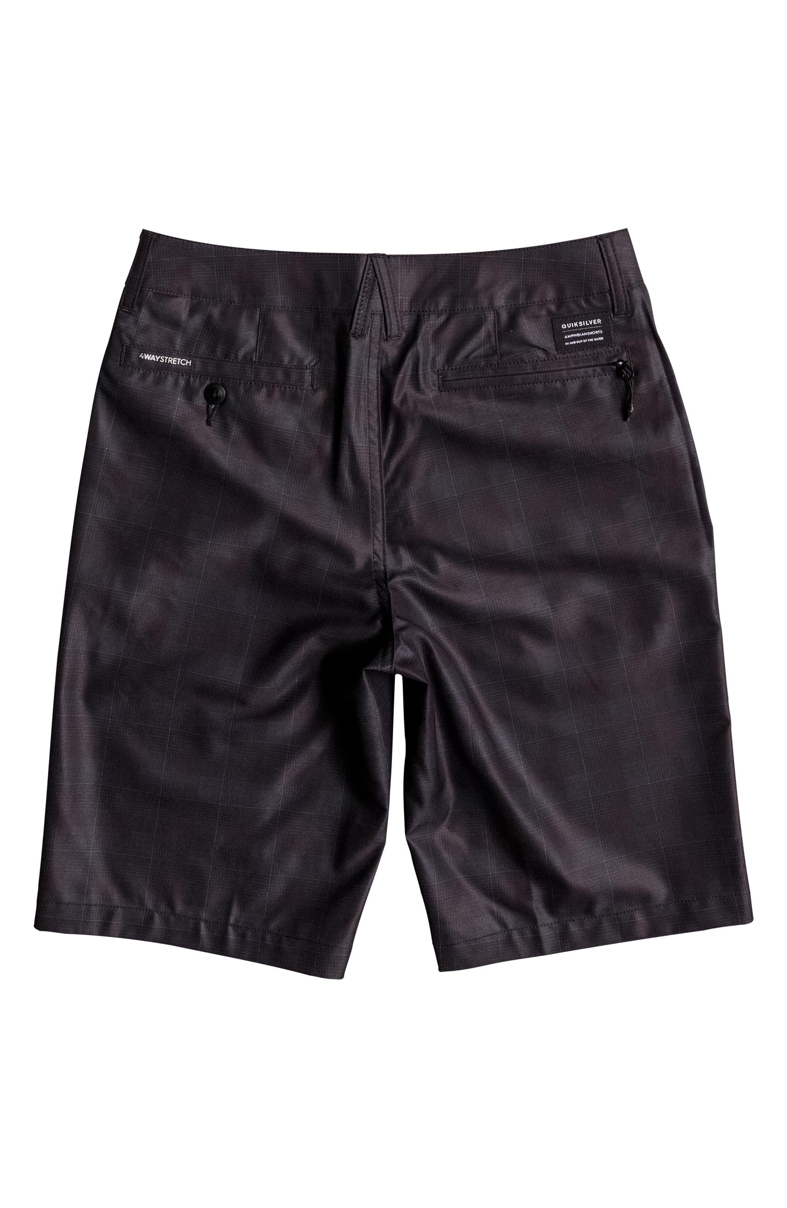 Alternate Image 2  - Quiksilver Union Plaid Amphibian Hybrid Shorts (Big Boys)