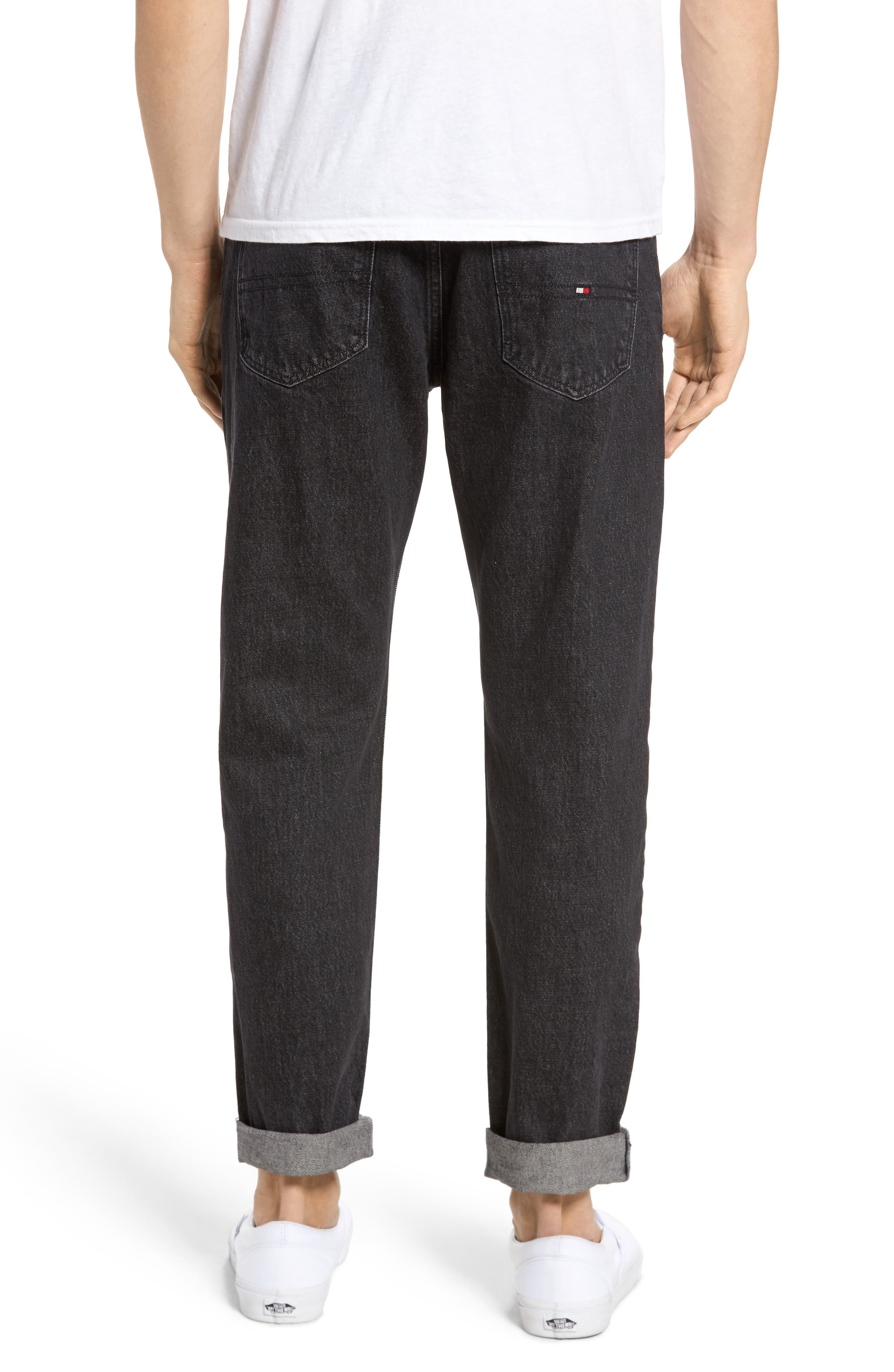 Alternate Image 2  - Tommy Hilfiger 90s Classic Straight Leg Jeans (Black)
