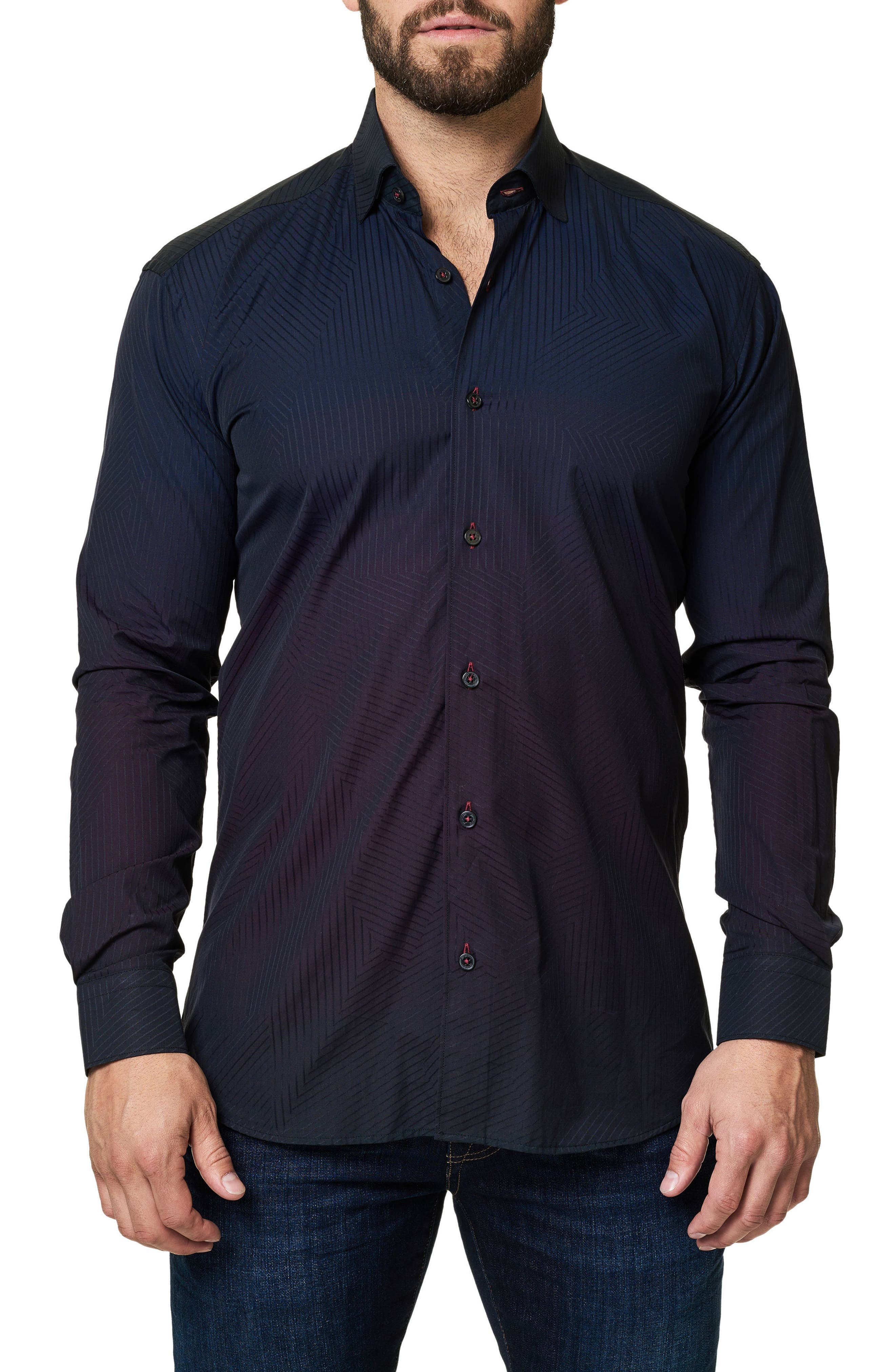 Main Image - Maceoo Print Trim Fit Sport Shirt