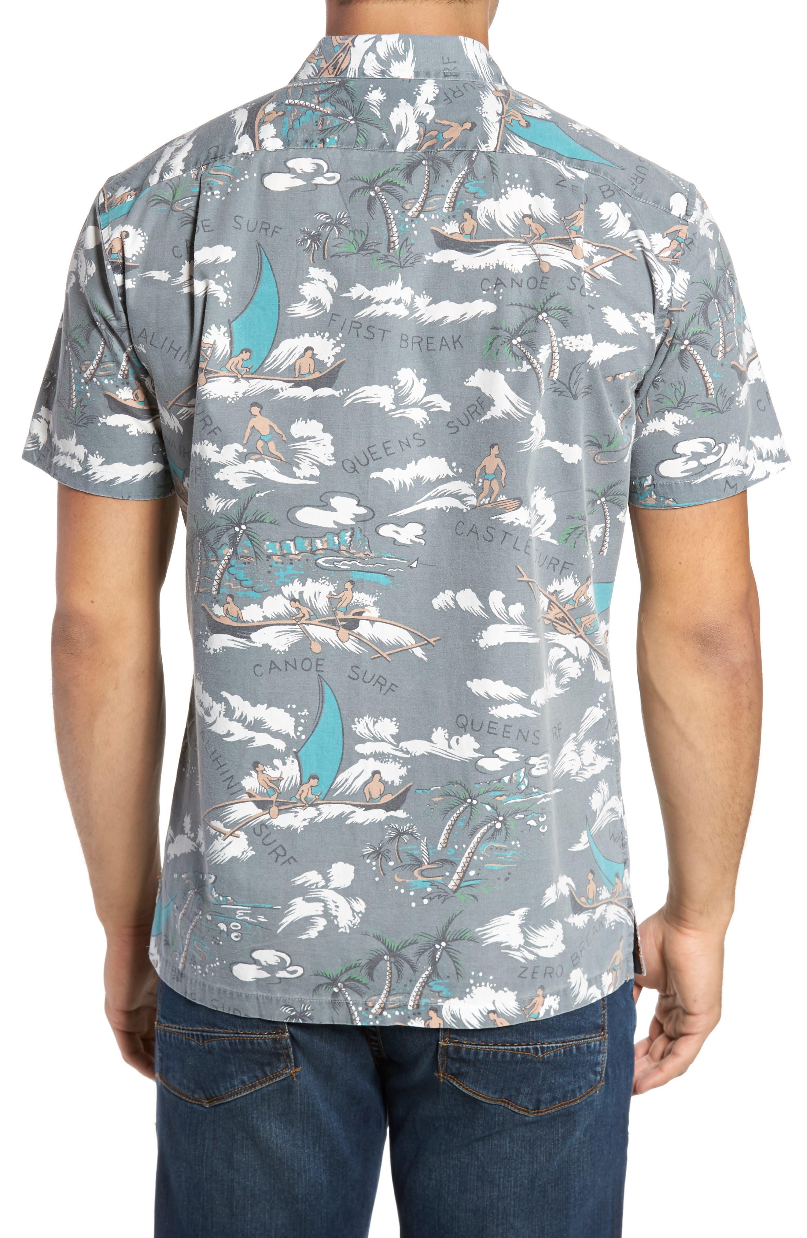 Malihini Trim Fit Print Sport Shirt,                             Alternate thumbnail 2, color,                             Grey