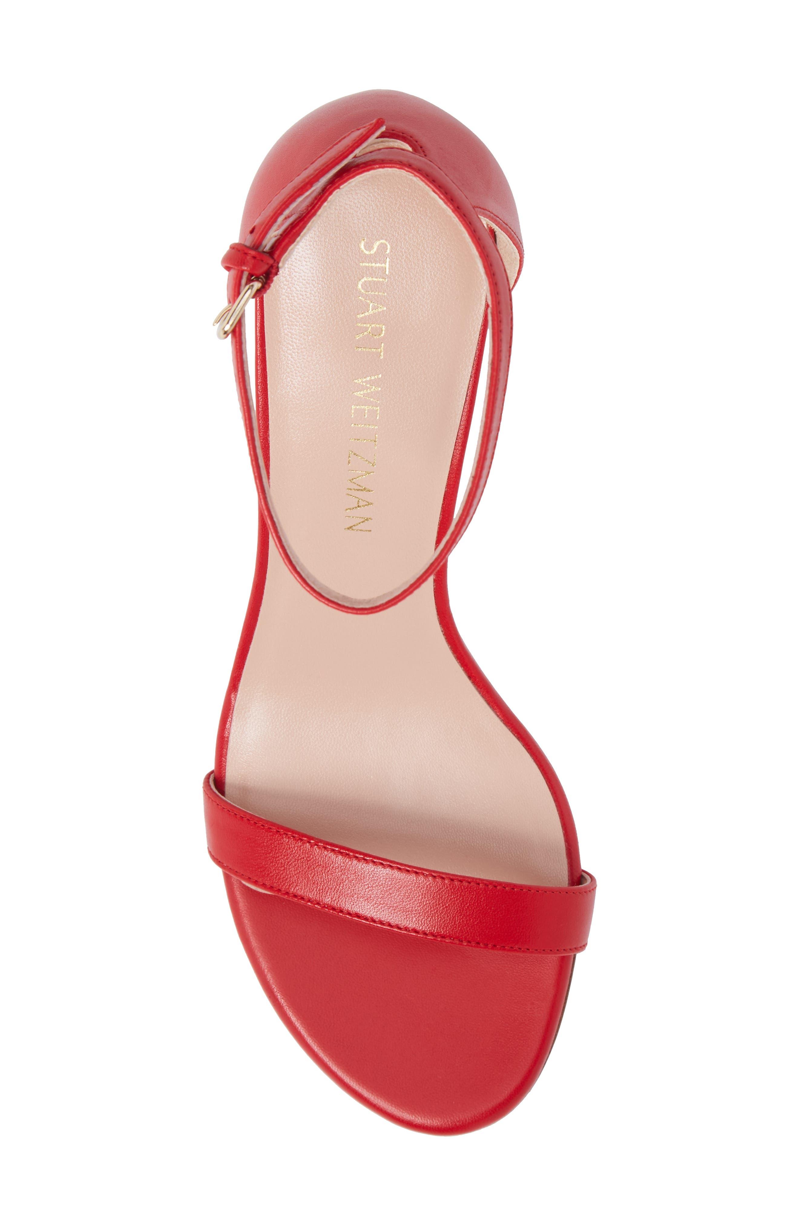 Alternate Image 5  - Stuart Weitzman NearlyNude Ankle Strap Sandal (Women)
