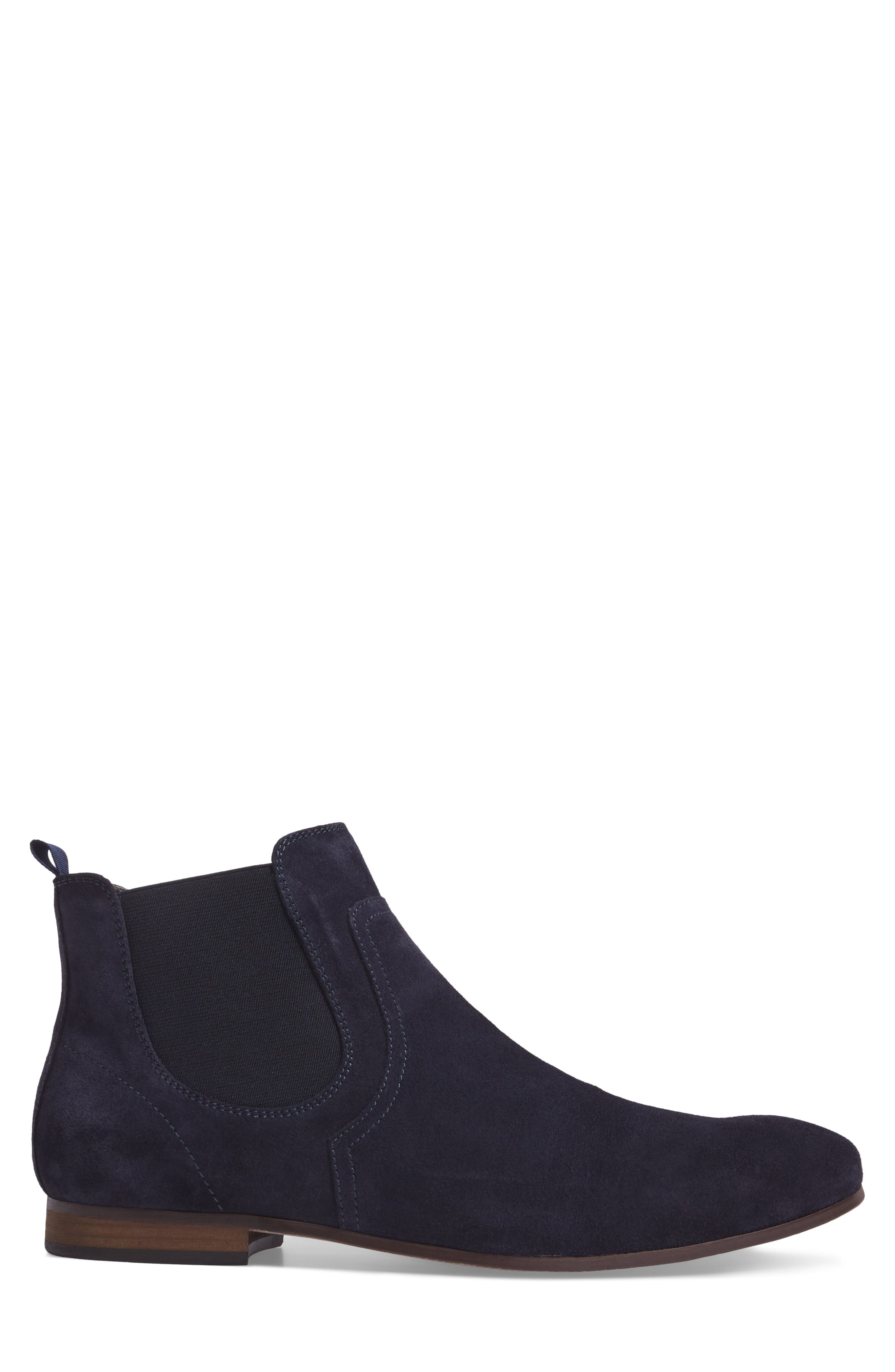 Brysen Chelsea Boot,                             Alternate thumbnail 3, color,                             Blue Suede