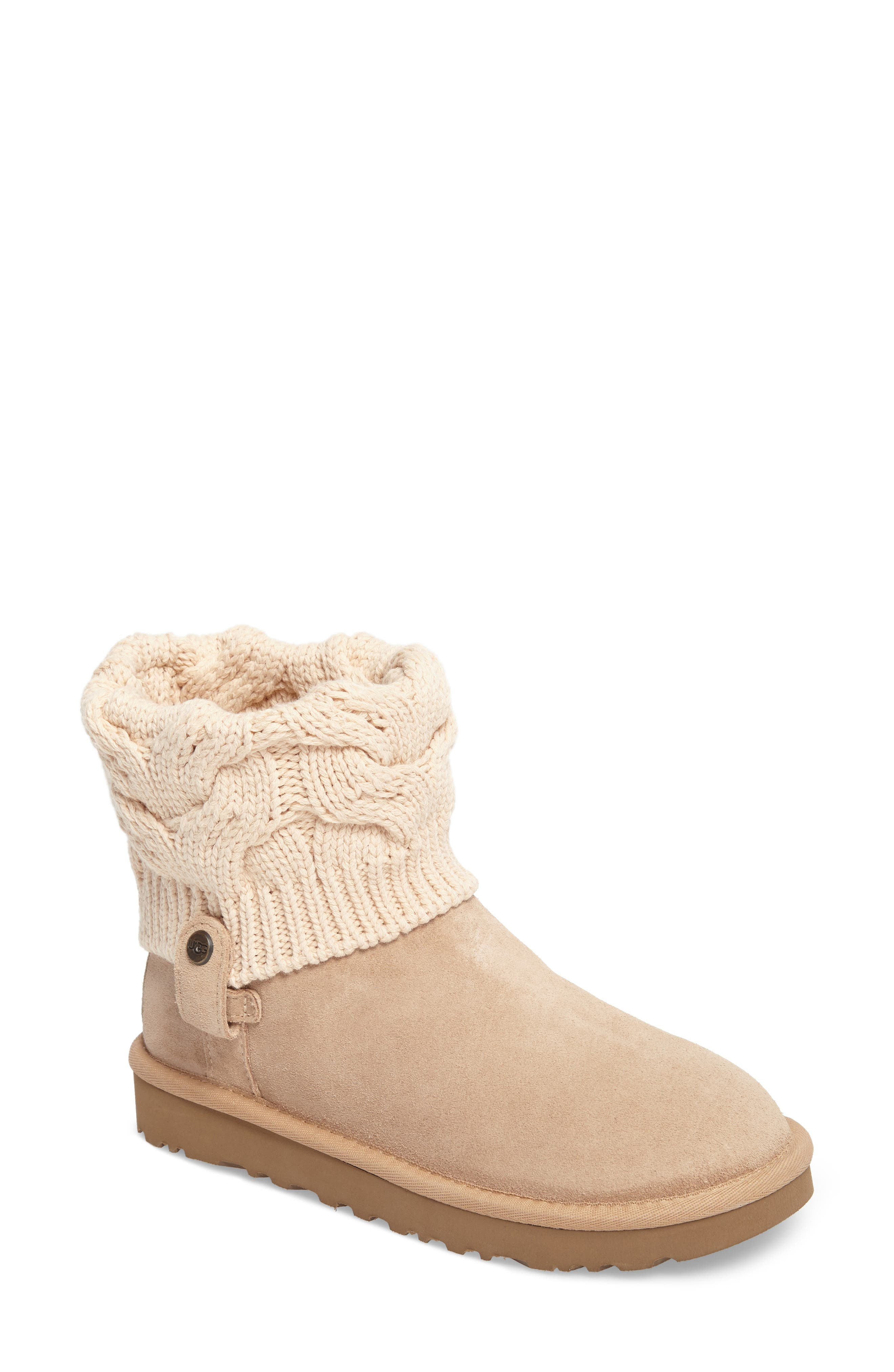 Alternate Image 1 Selected - UGG® Saela Knit Cuff Boot (Women)