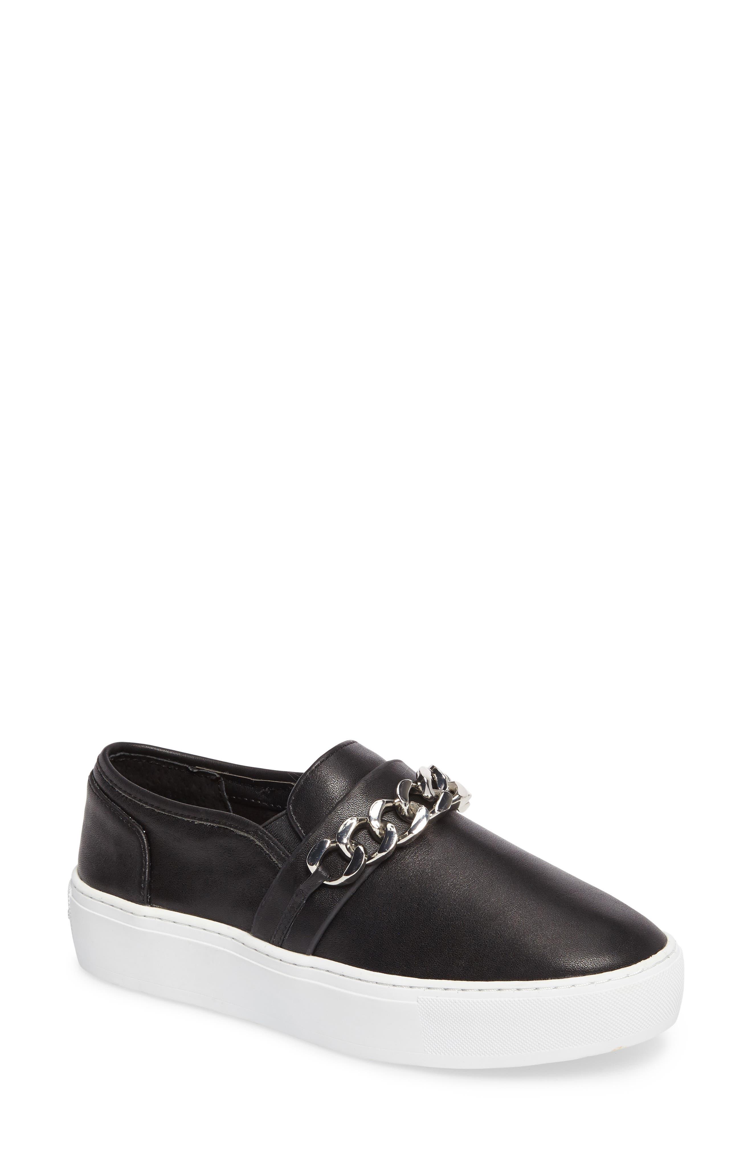 Nala Slip-On Sneaker,                             Main thumbnail 1, color,                             Black Leather
