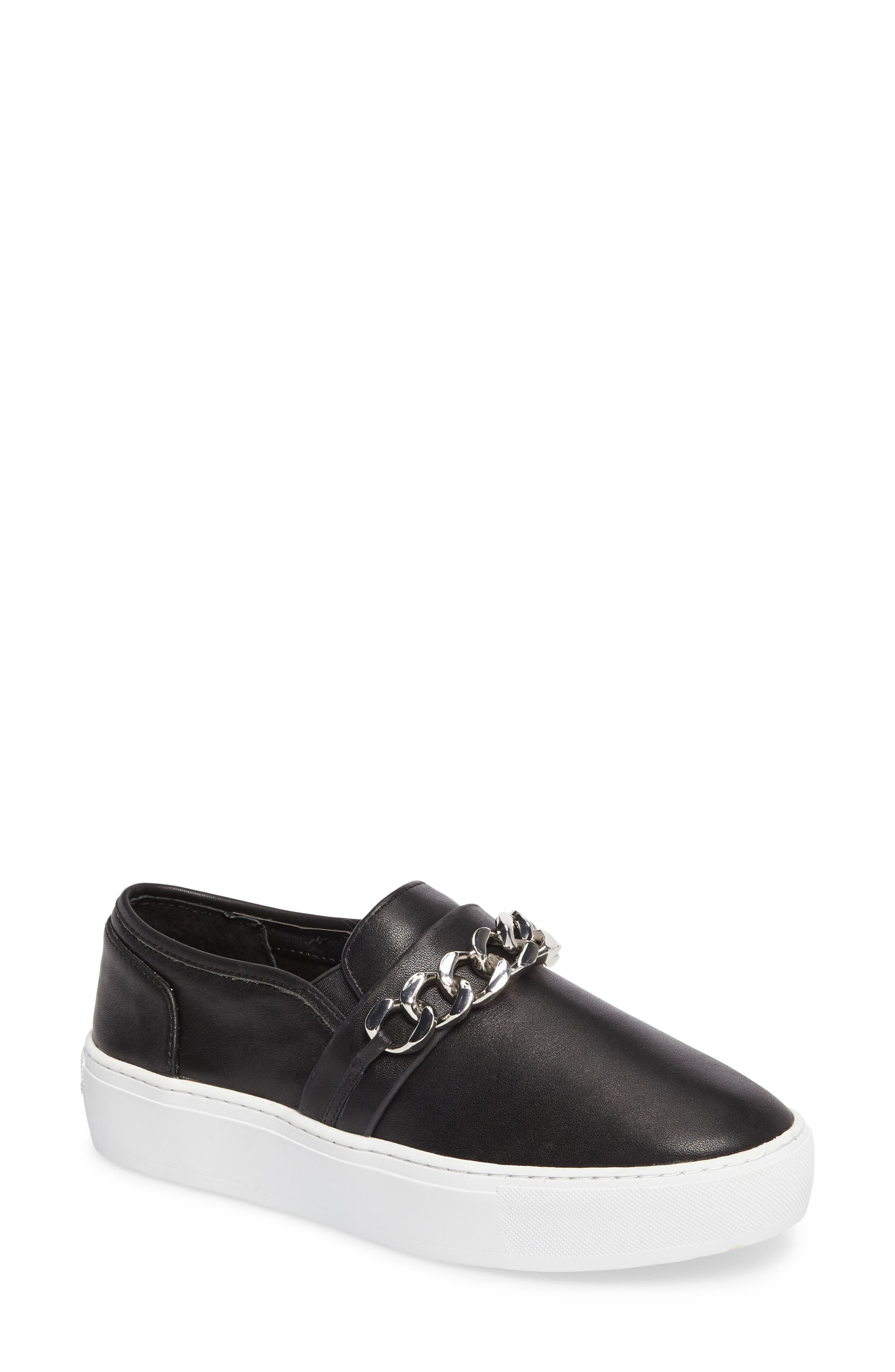 Nala Slip-On Sneaker,                         Main,                         color, Black Leather