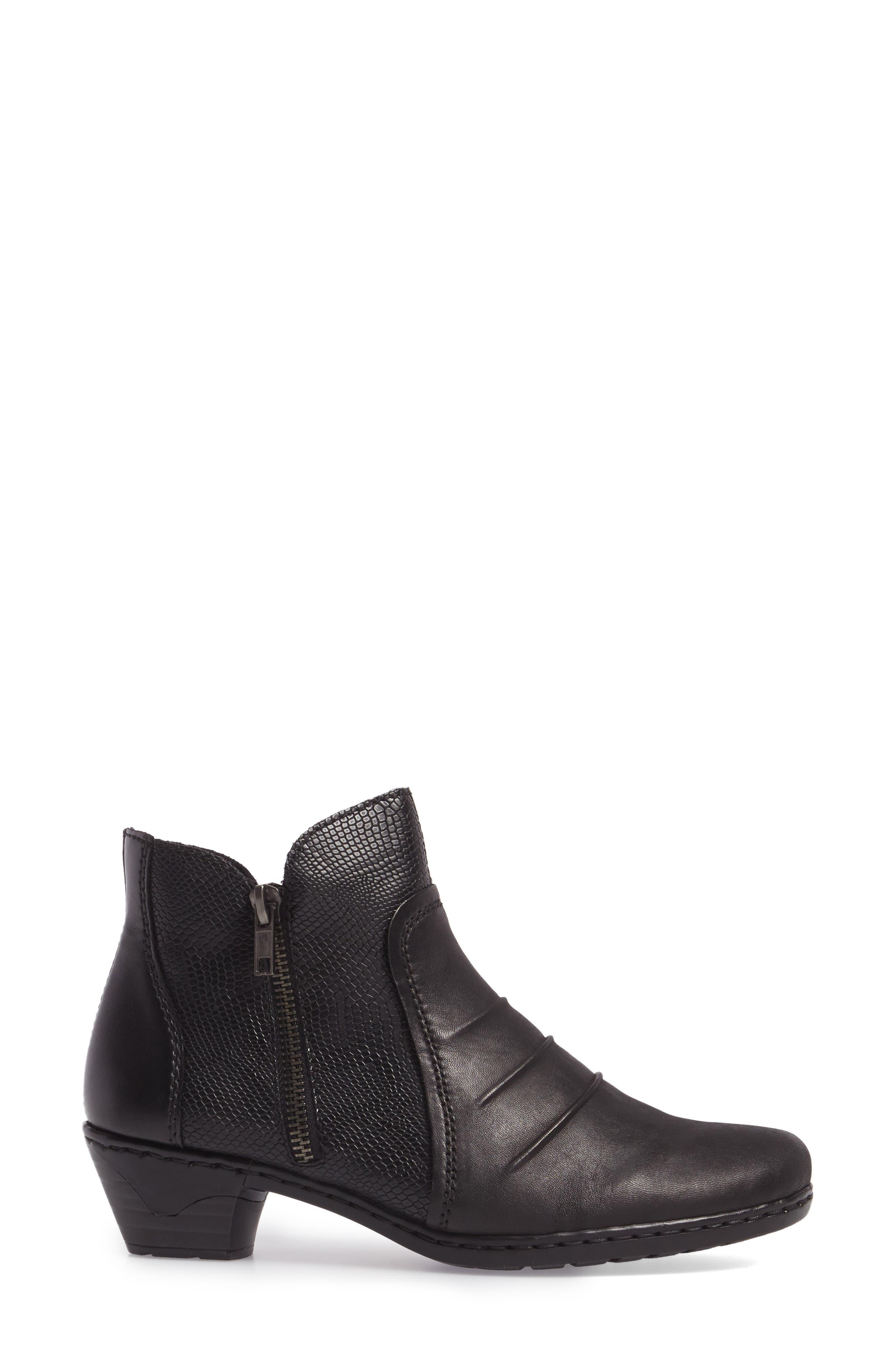 Lynn 62 Bootie,                             Alternate thumbnail 3, color,                             Schwarz Nero Leather