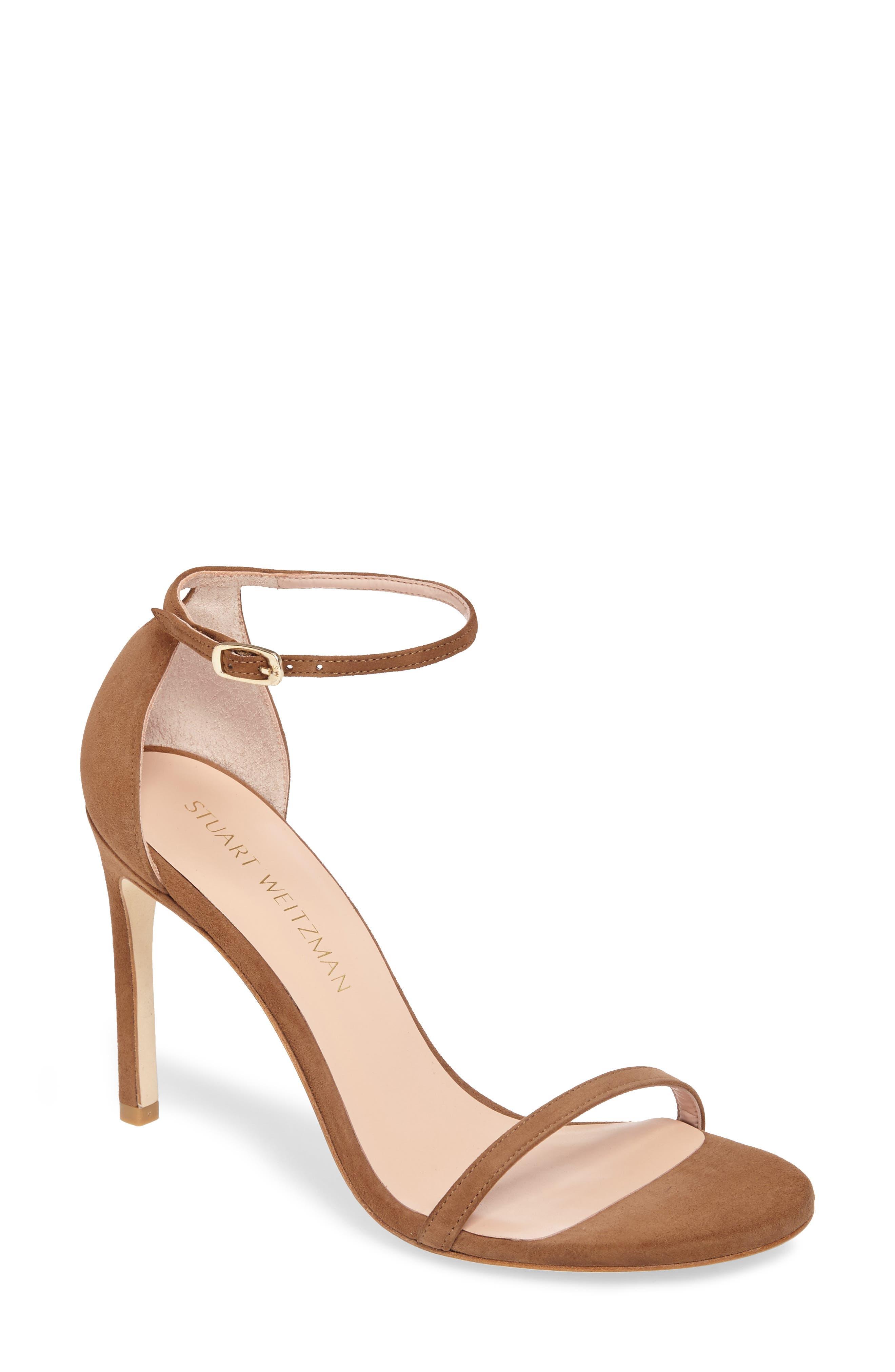 Alternate Image 1 Selected - Stuart Weitzman Nudistsong Ankle Strap Sandal (Women)