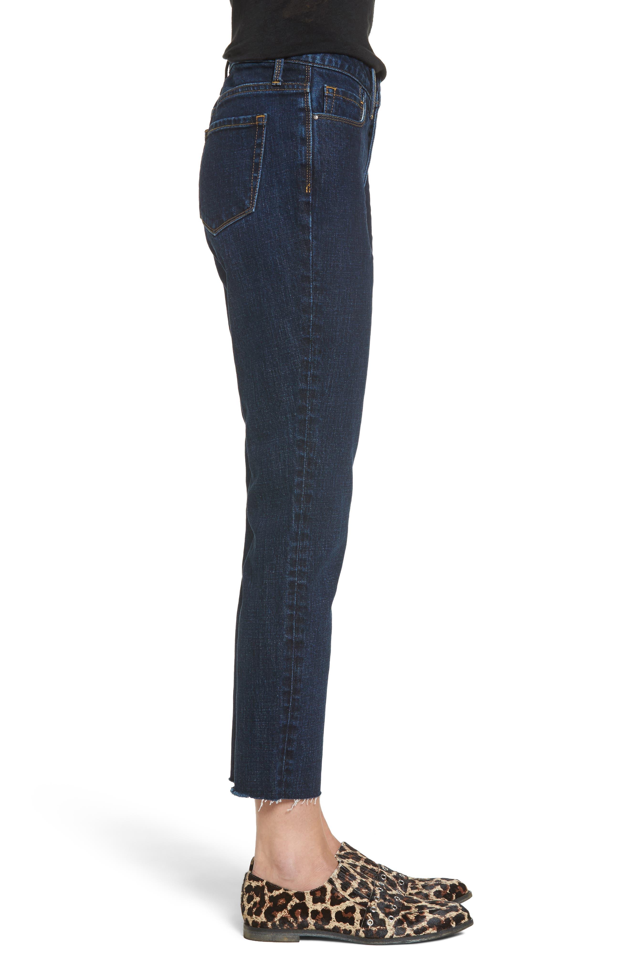 Alternate Image 3  - Treasure & Bond Bond Loose Fit Skinny Ankle Jeans (Granite Dark Vintage)