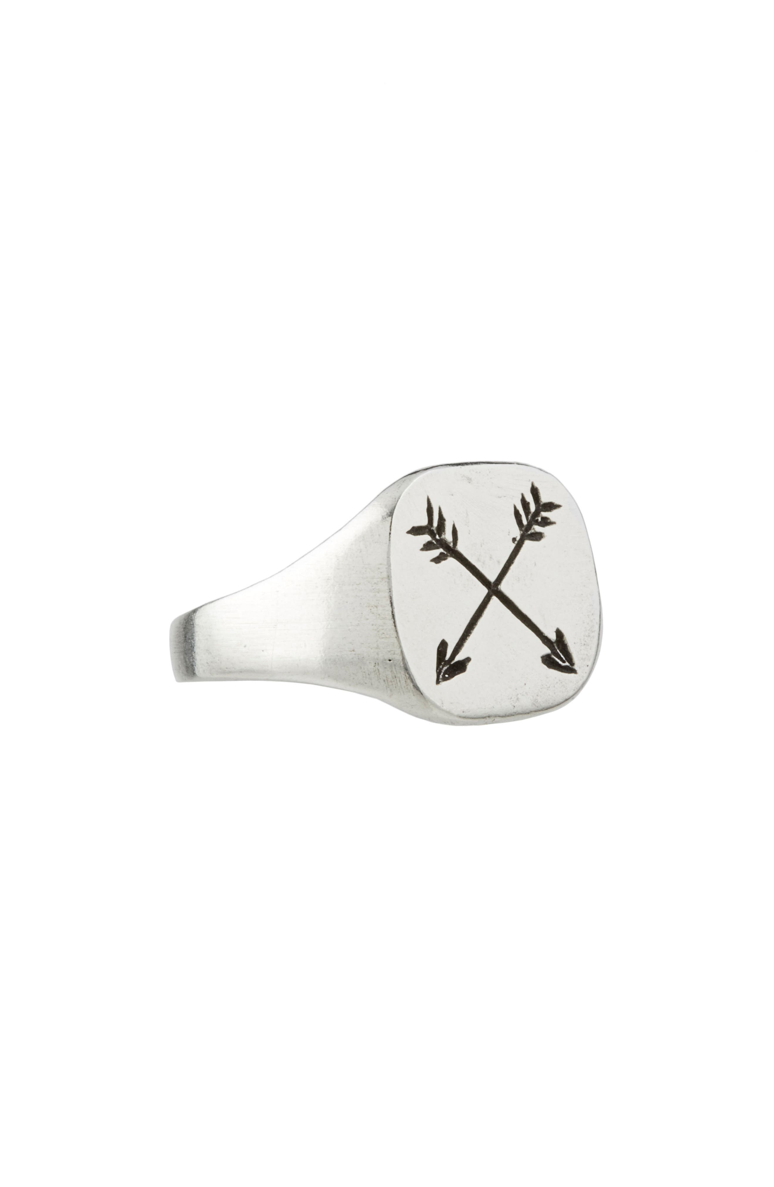 Arrow Ring,                             Main thumbnail 1, color,                             Silver
