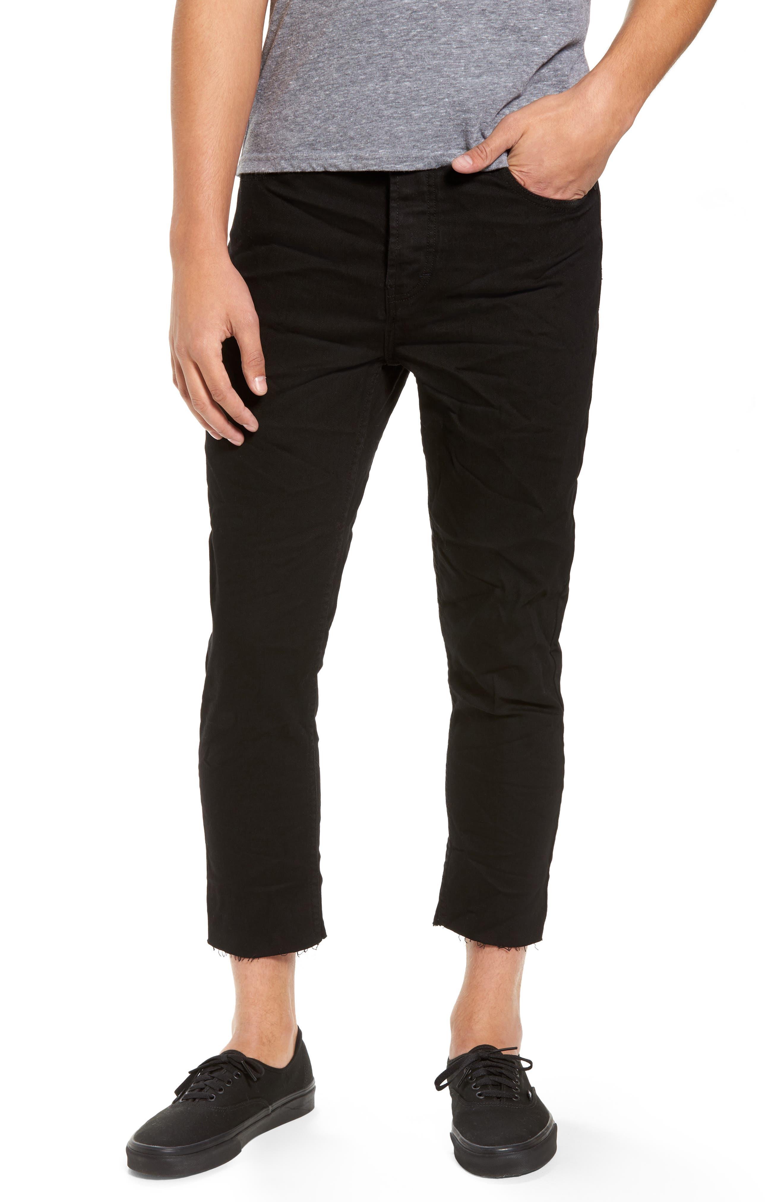 B.Line Crop Slim Fit Jeans,                         Main,                         color, Washed Black