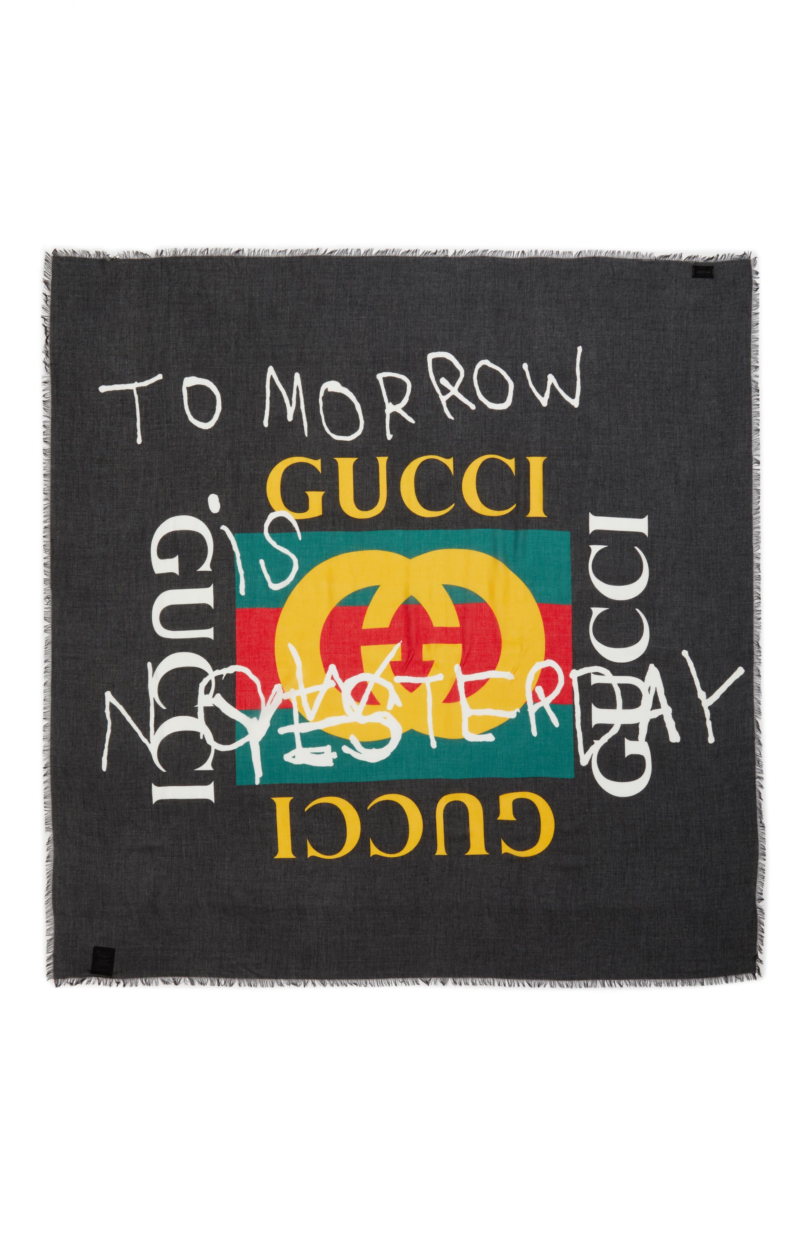Main Image - Gucci Coco Capitán Print Scarf