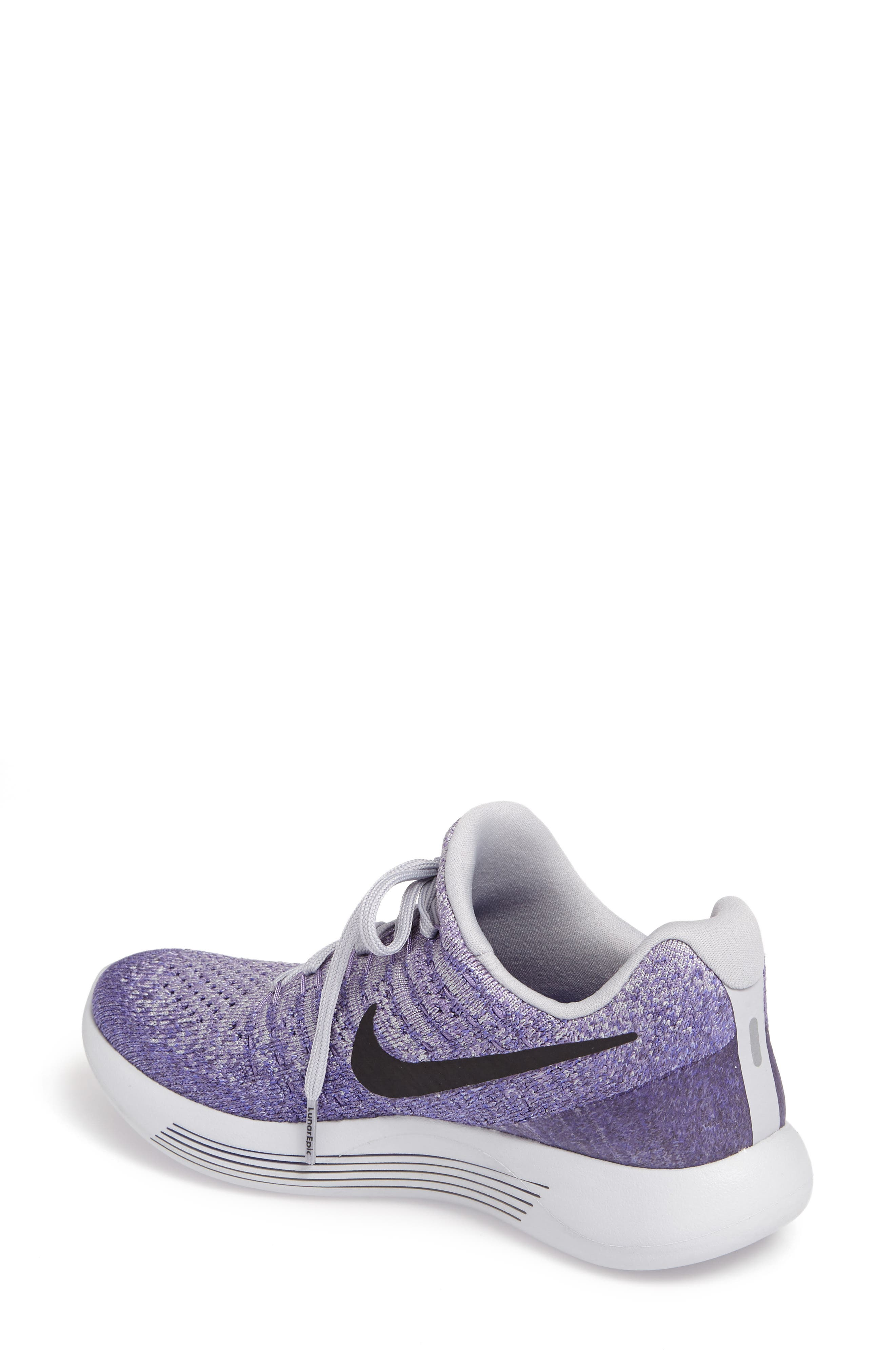 Alternate Image 2  - Nike LunarEpic Low Flyknit 2 Running Shoe (Women)