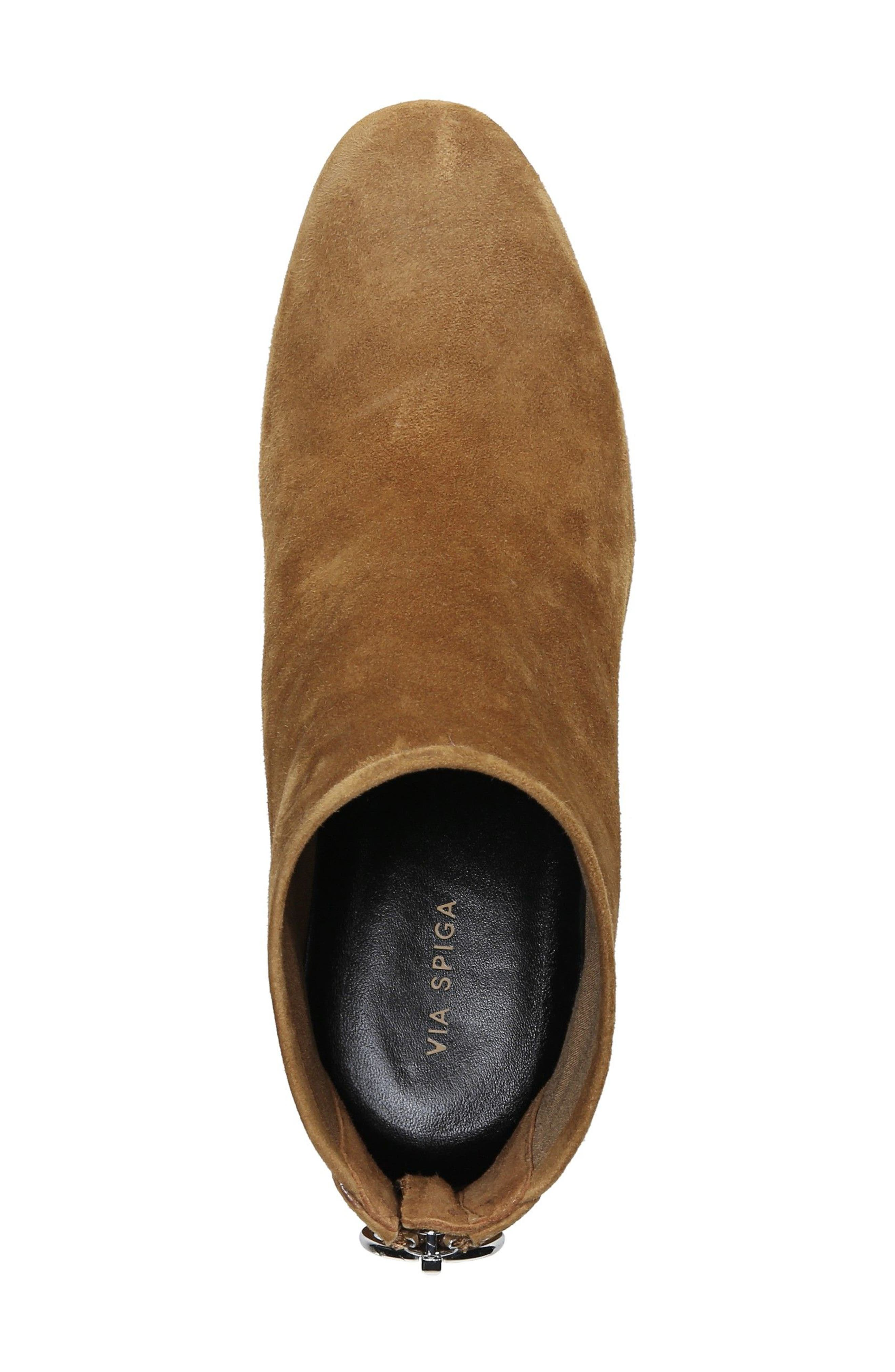 Nadia Bootie,                             Alternate thumbnail 6, color,                             Cuoio Suede
