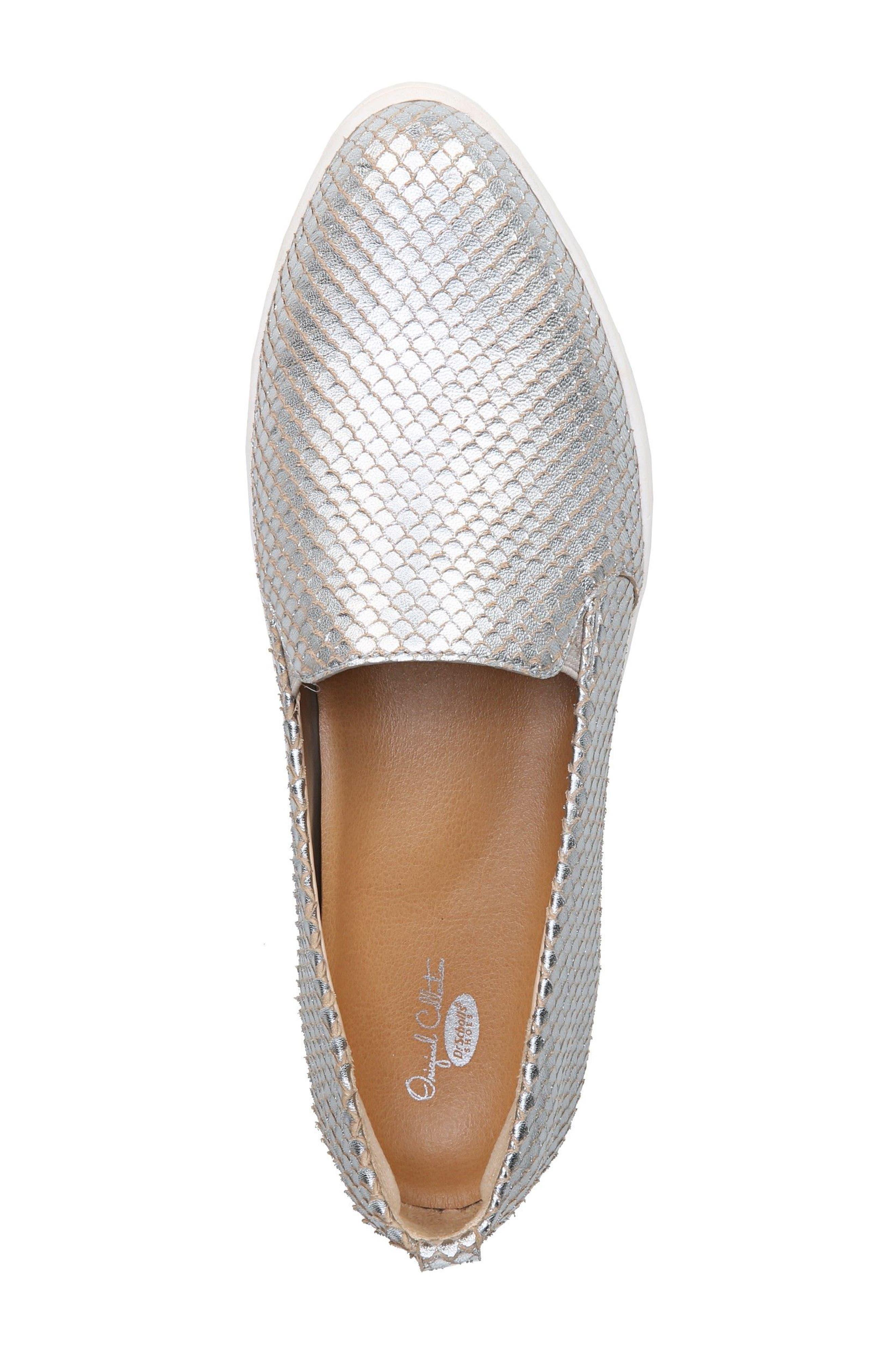 Bradyn Slip-On Sneaker,                             Alternate thumbnail 5, color,                             Silver Leather