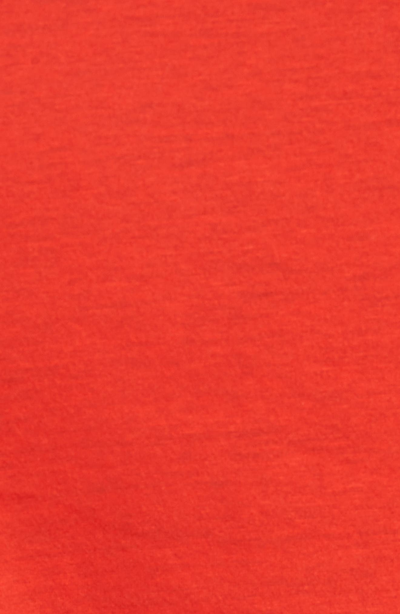 Classic Fit V-Neck T-Shirt,                             Alternate thumbnail 5, color,                             Poppy Red