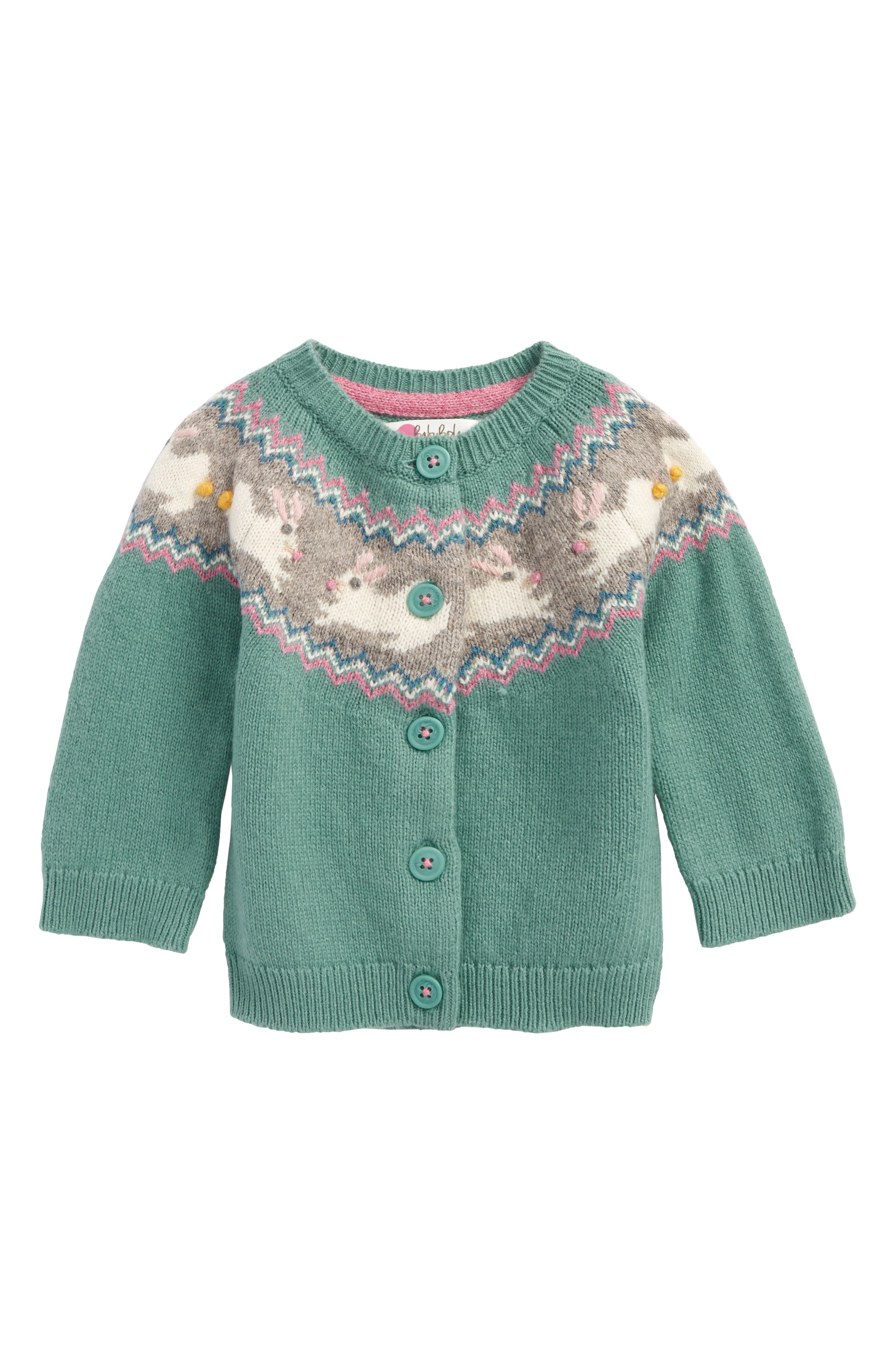 Mini Boden Fair Isle Cardigan (Baby Girls & Toddler Girls) | Nordstrom