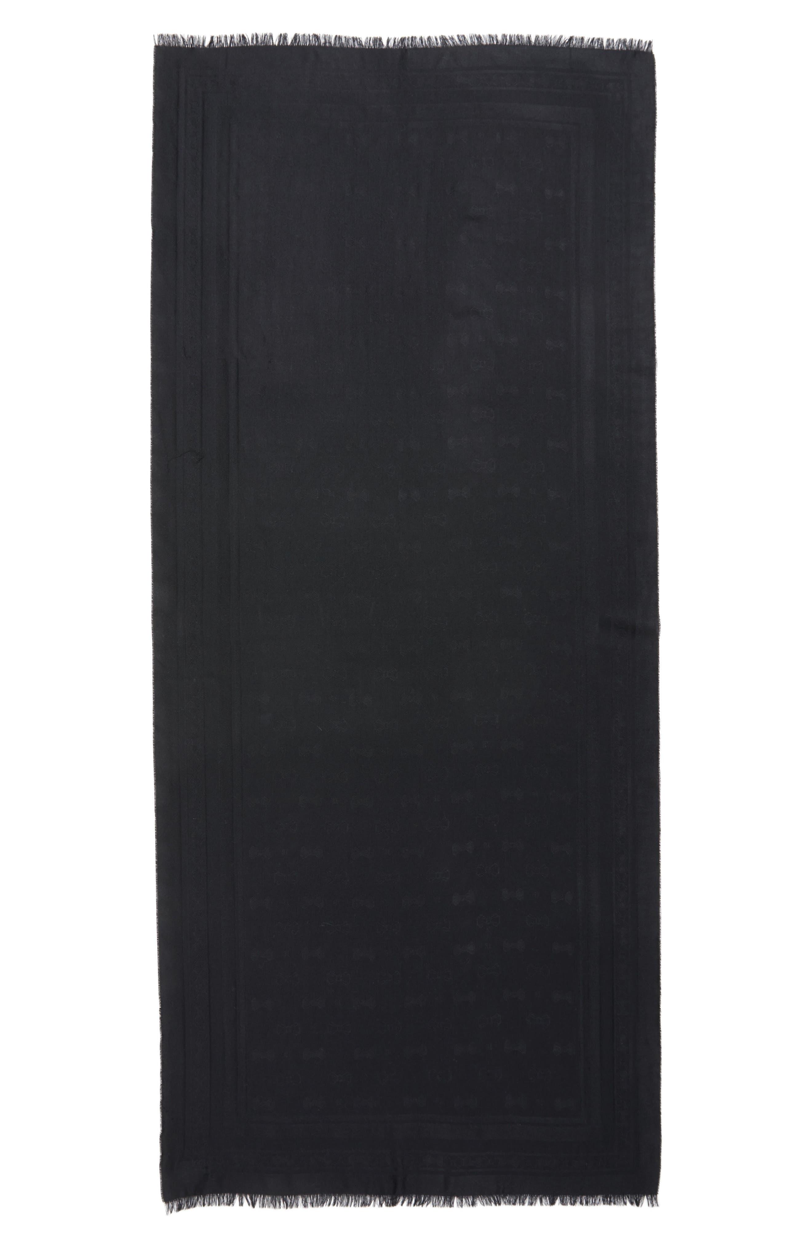 Alternate Image 2  - Ted Baker London Bow Jacquard Wool & Silk Scarf