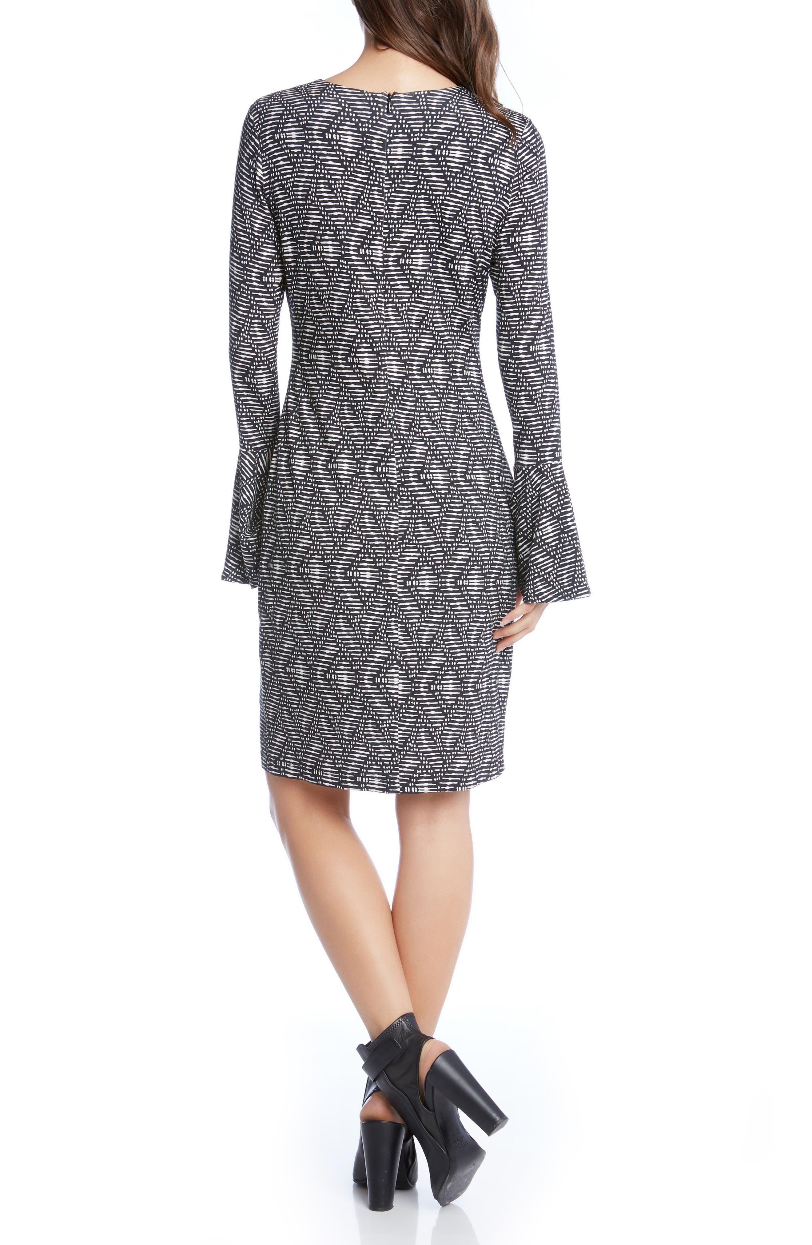 Alternate Image 3  - Karen Kane Print Bell Sleeve Dress
