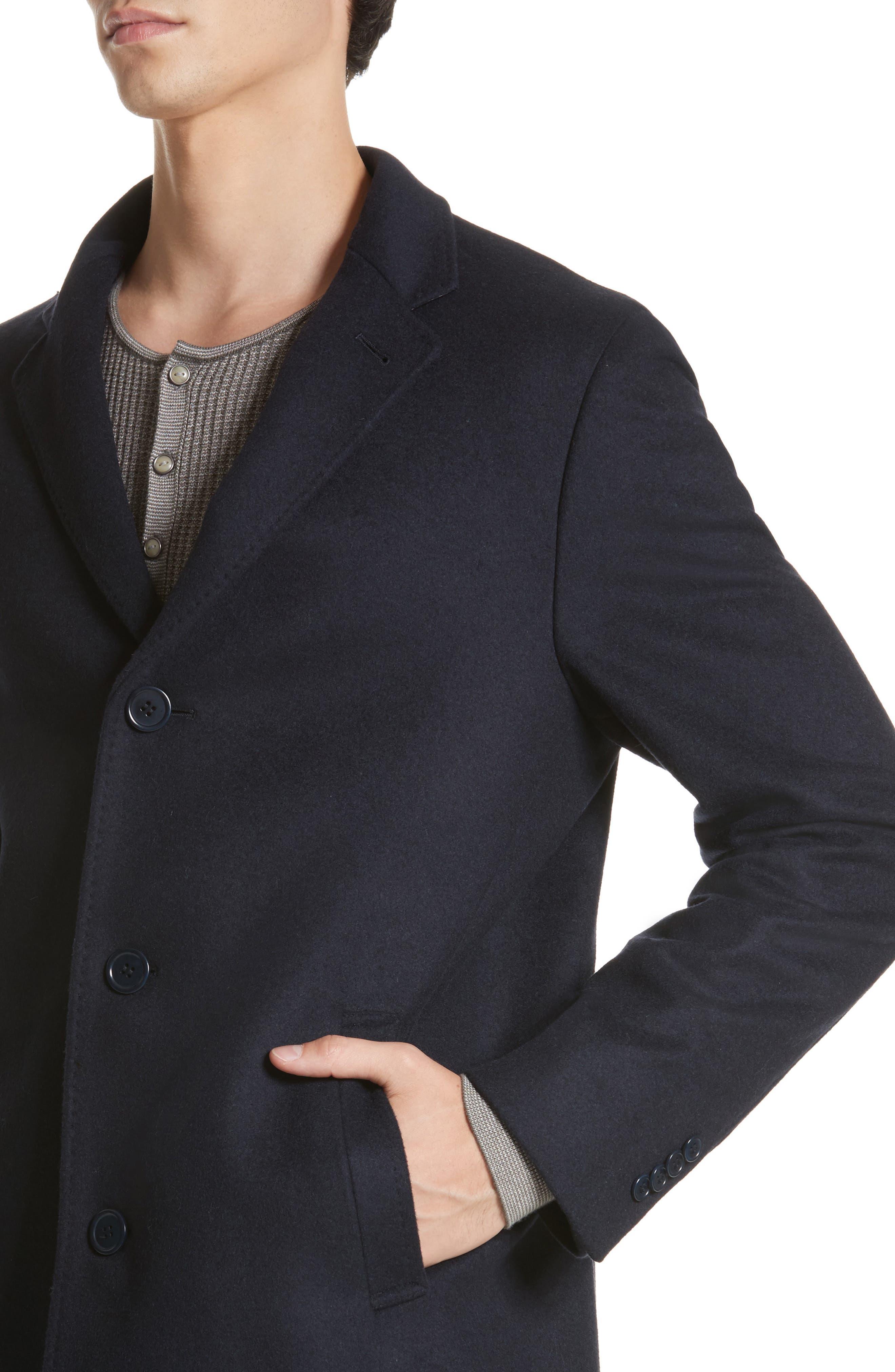 Walsh Wool Blend Topcoat,                             Alternate thumbnail 4, color,                             Navy