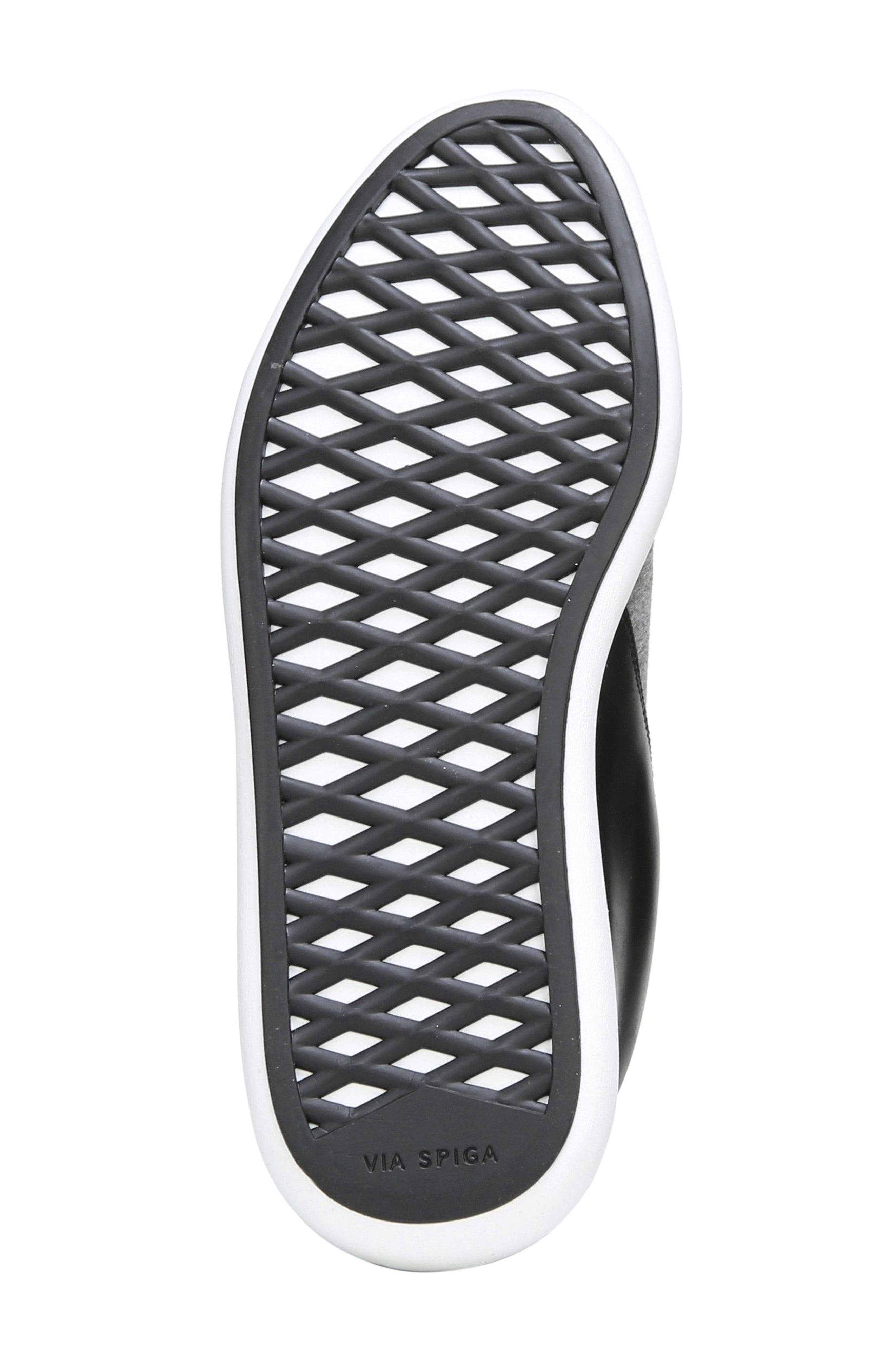 Morgan Slip-On Sneaker,                             Alternate thumbnail 7, color,                             Black/ Gray Stretch Fabric