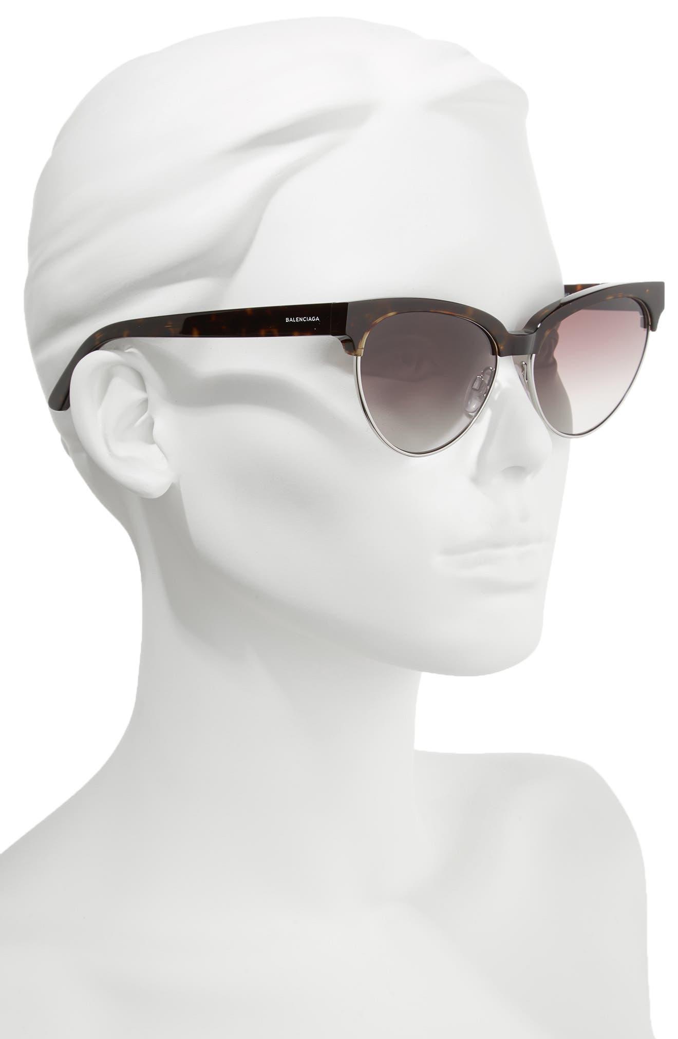 Alternate Image 2  - Balenciaga 57mm Gradient Cat Eye Sunglasses