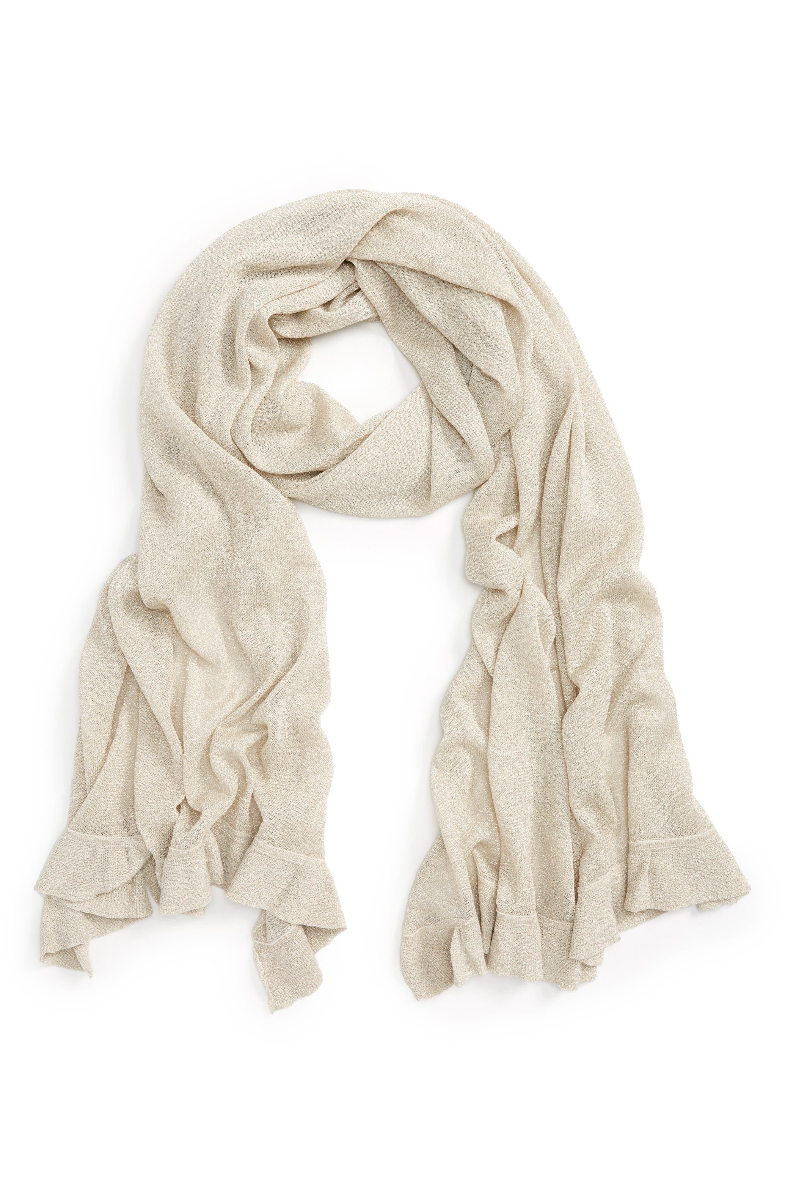 Nordstrom Metallic Knit Wrap