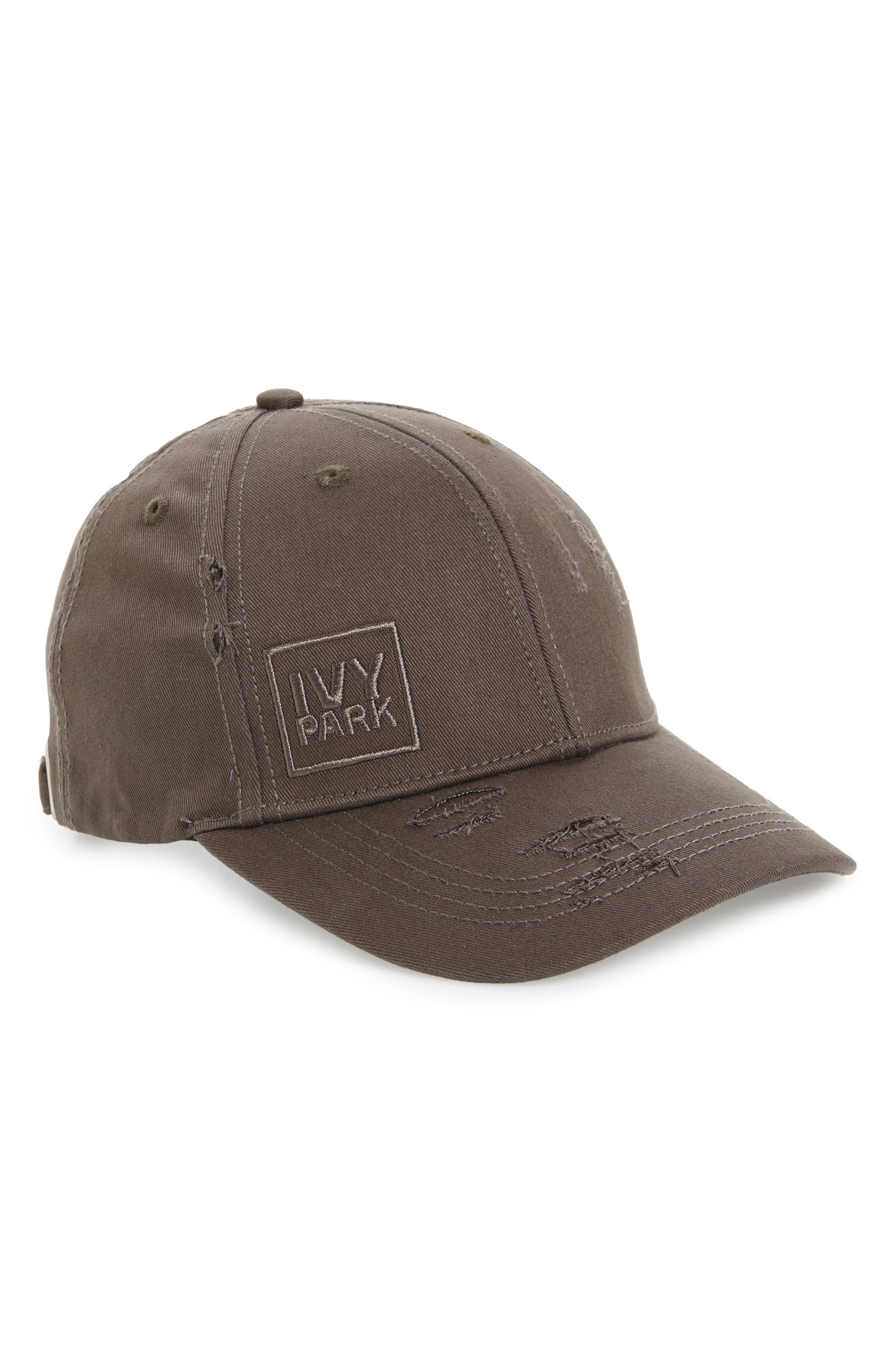 Distressed Baseball Cap,                         Main,                         color, Washed Black