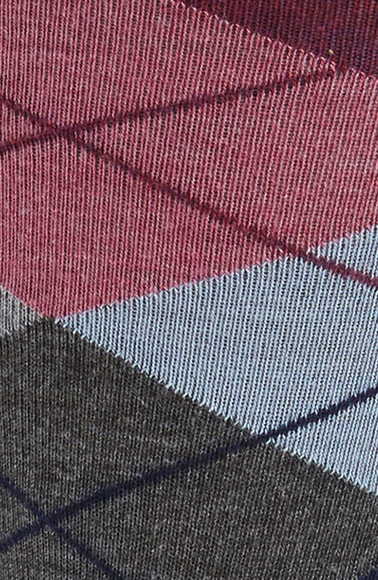 Argyle Socks,                             Alternate thumbnail 2, color,                             Burgundy
