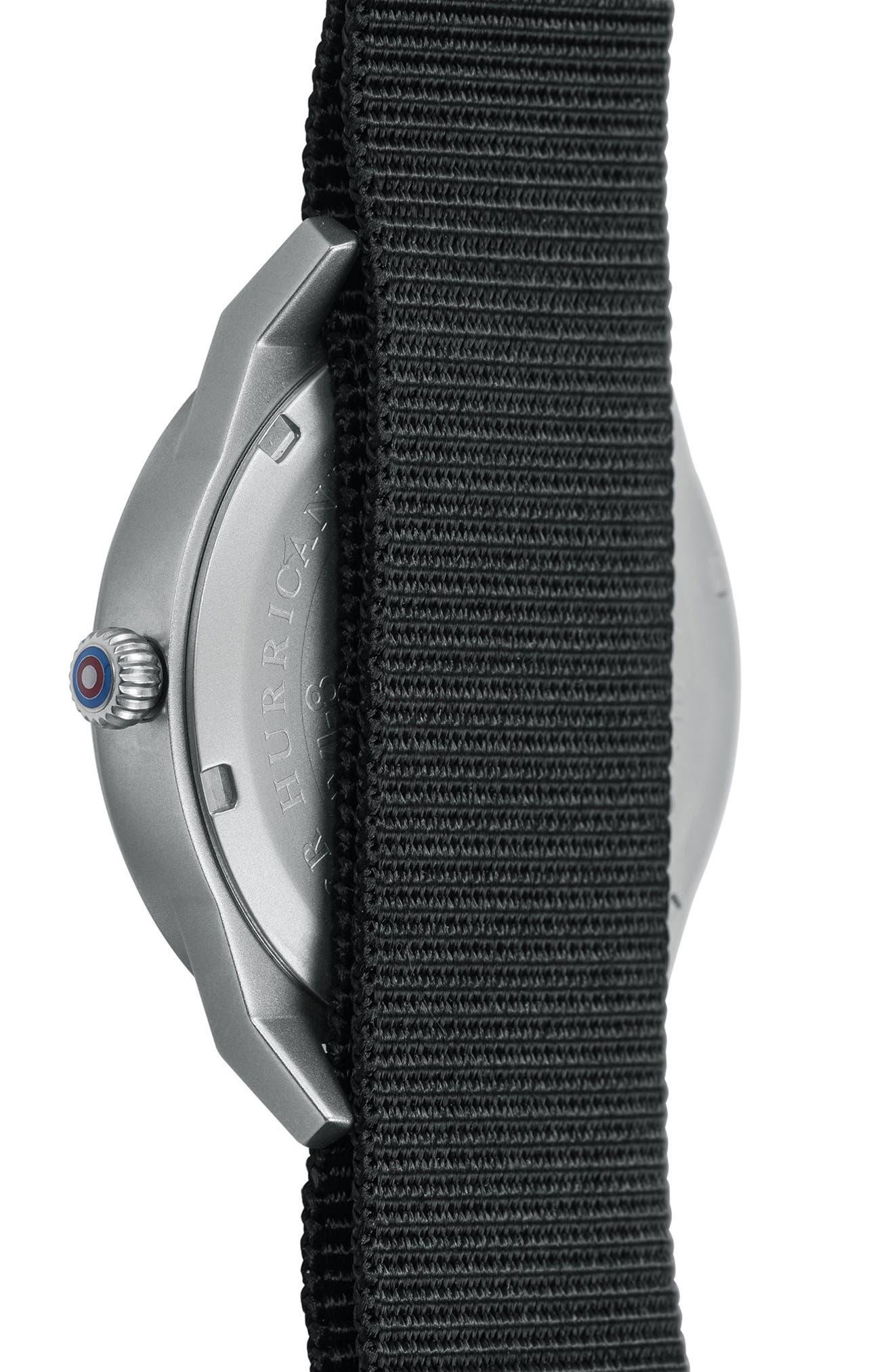 Hawker Hurricane NATO Strap Watch, 38mm,                             Alternate thumbnail 3, color,                             White/ Black