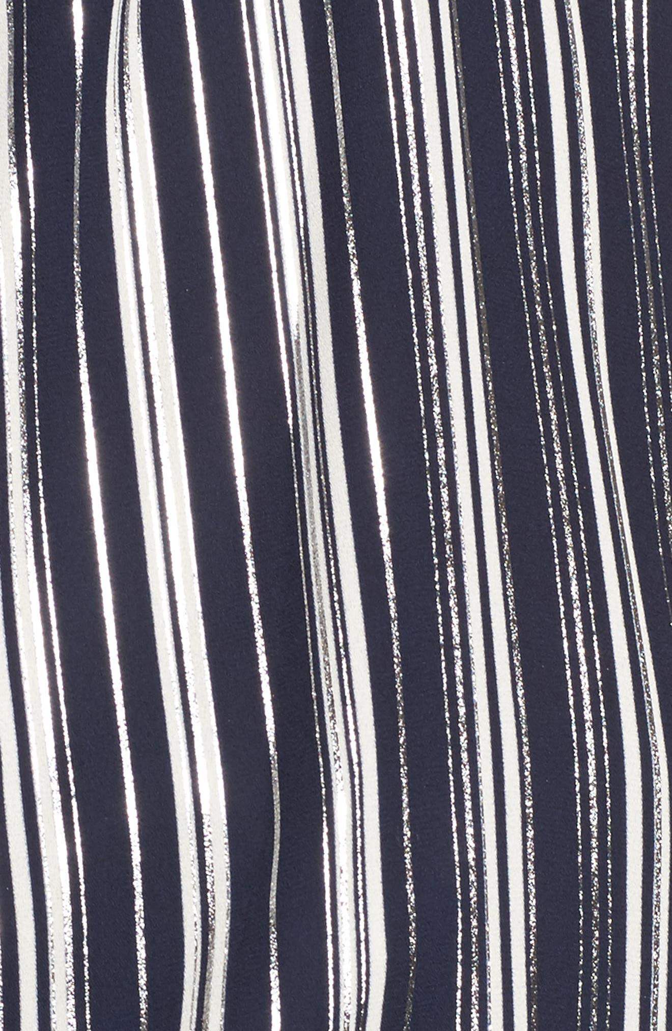 Alternate Image 5  - Metallic Stripe Cold Shoulder Top