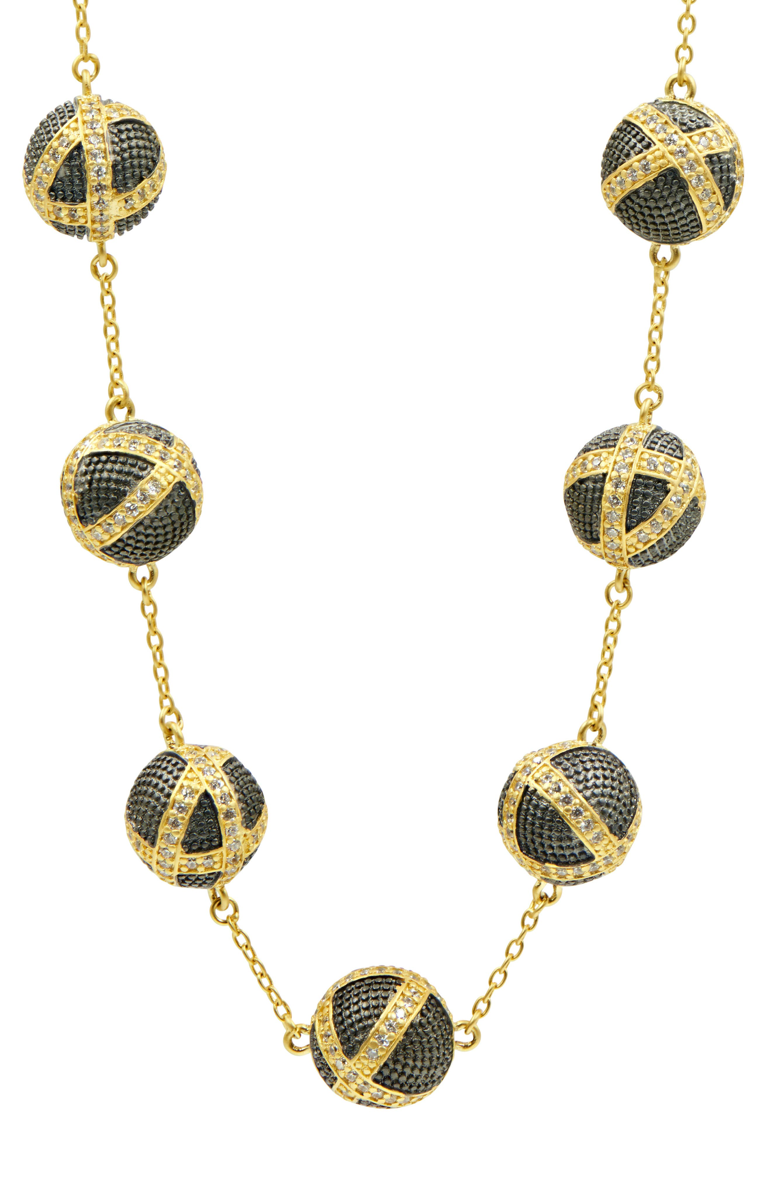 Textured Ornaments Collar Necklace,                             Alternate thumbnail 2, color,                             Black/ Gold